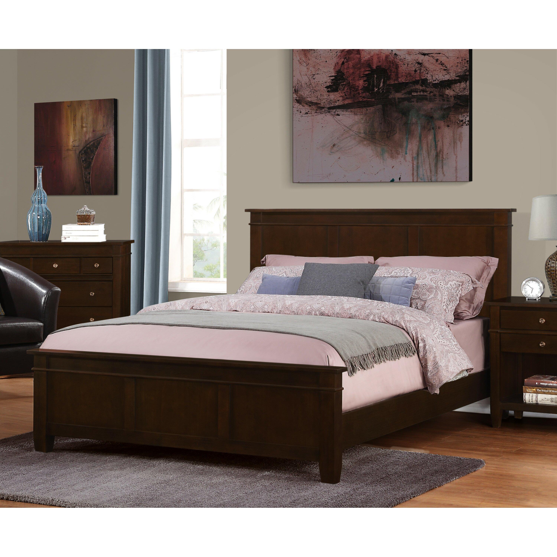 Simpli home queen platform bed reviews wayfair for Queen footboard