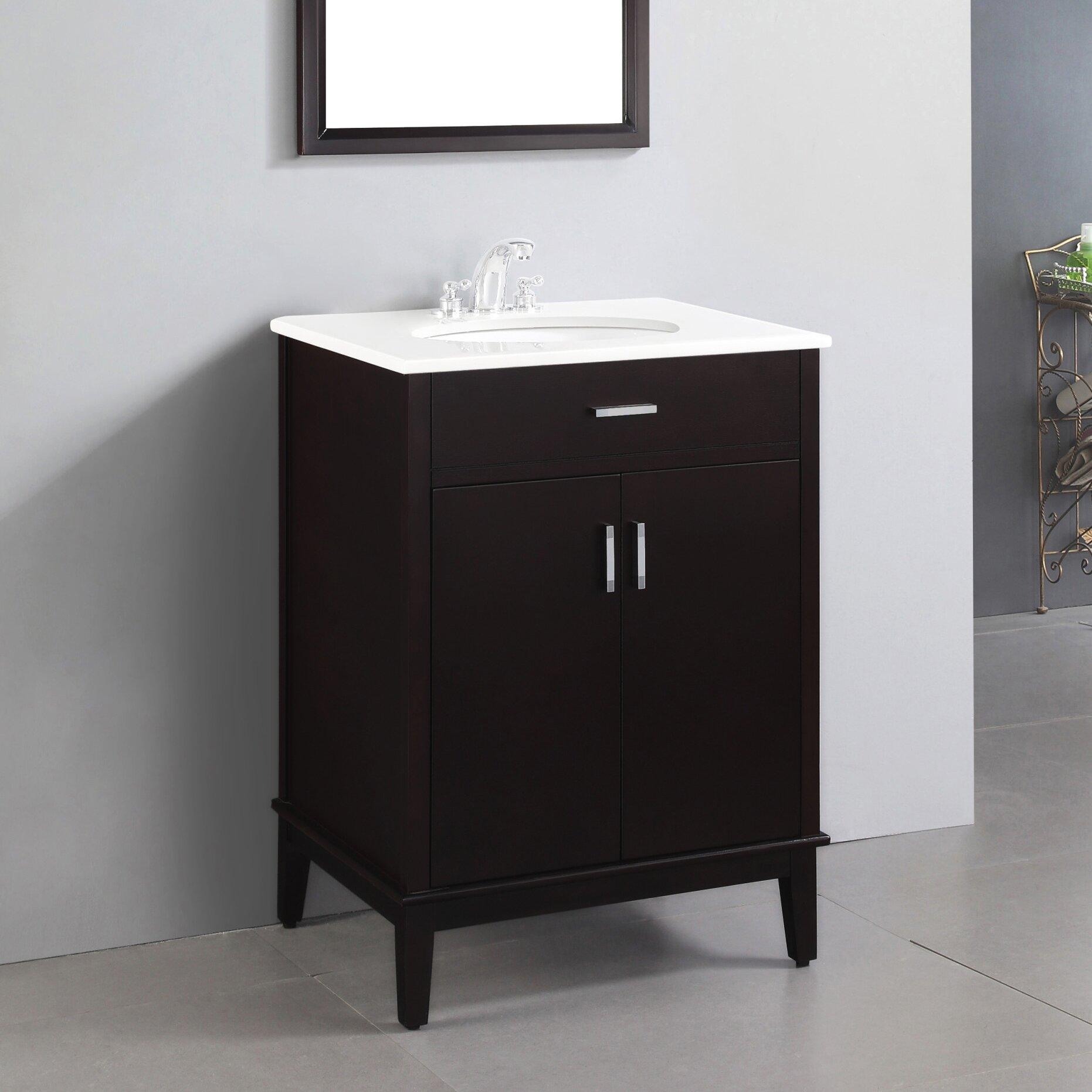 """Simpli Home Urban Loft 25"""" Single Bathroom Vanity Set"""
