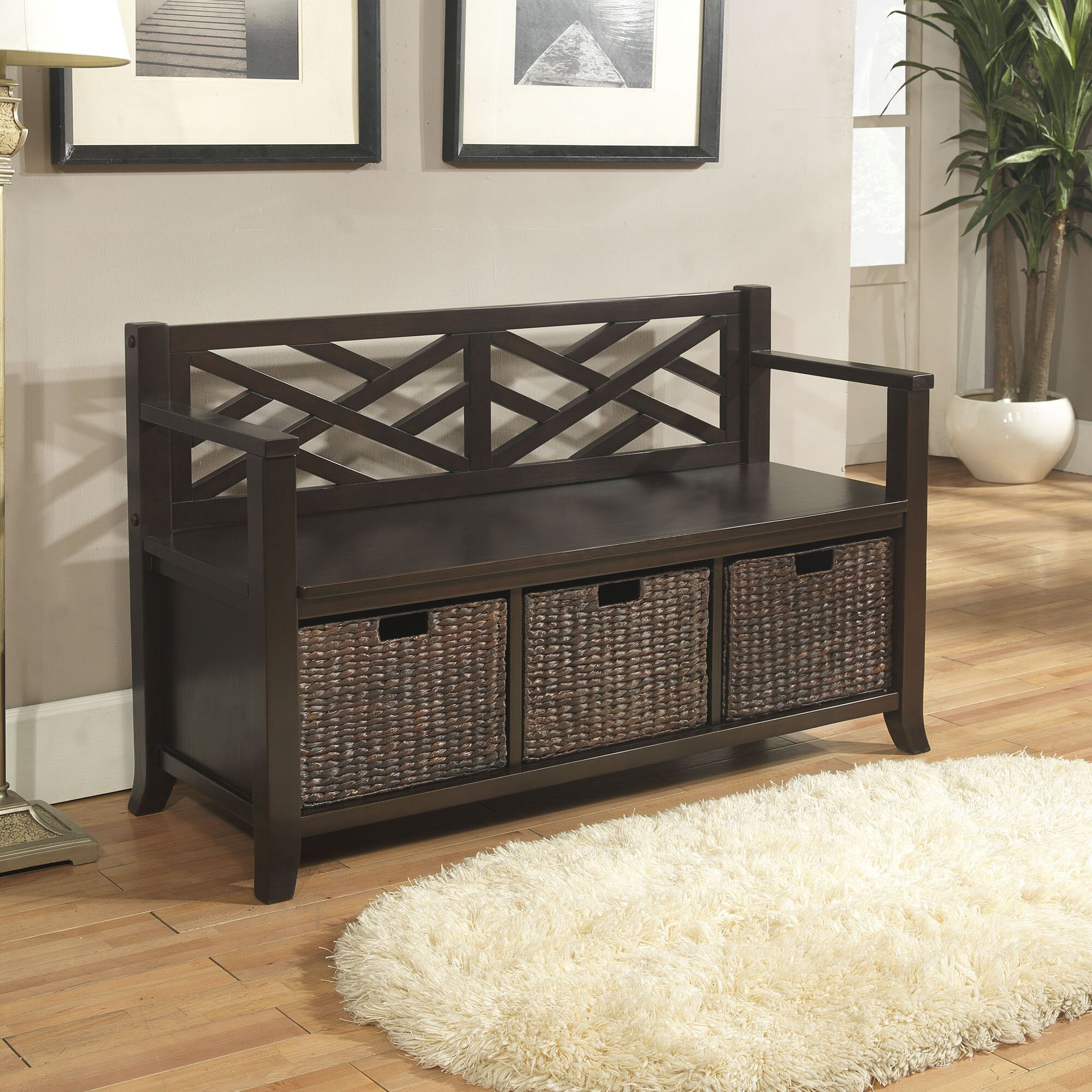 Foyer Mudroom Review : Simpli home adrien entryway storage bench reviews wayfair