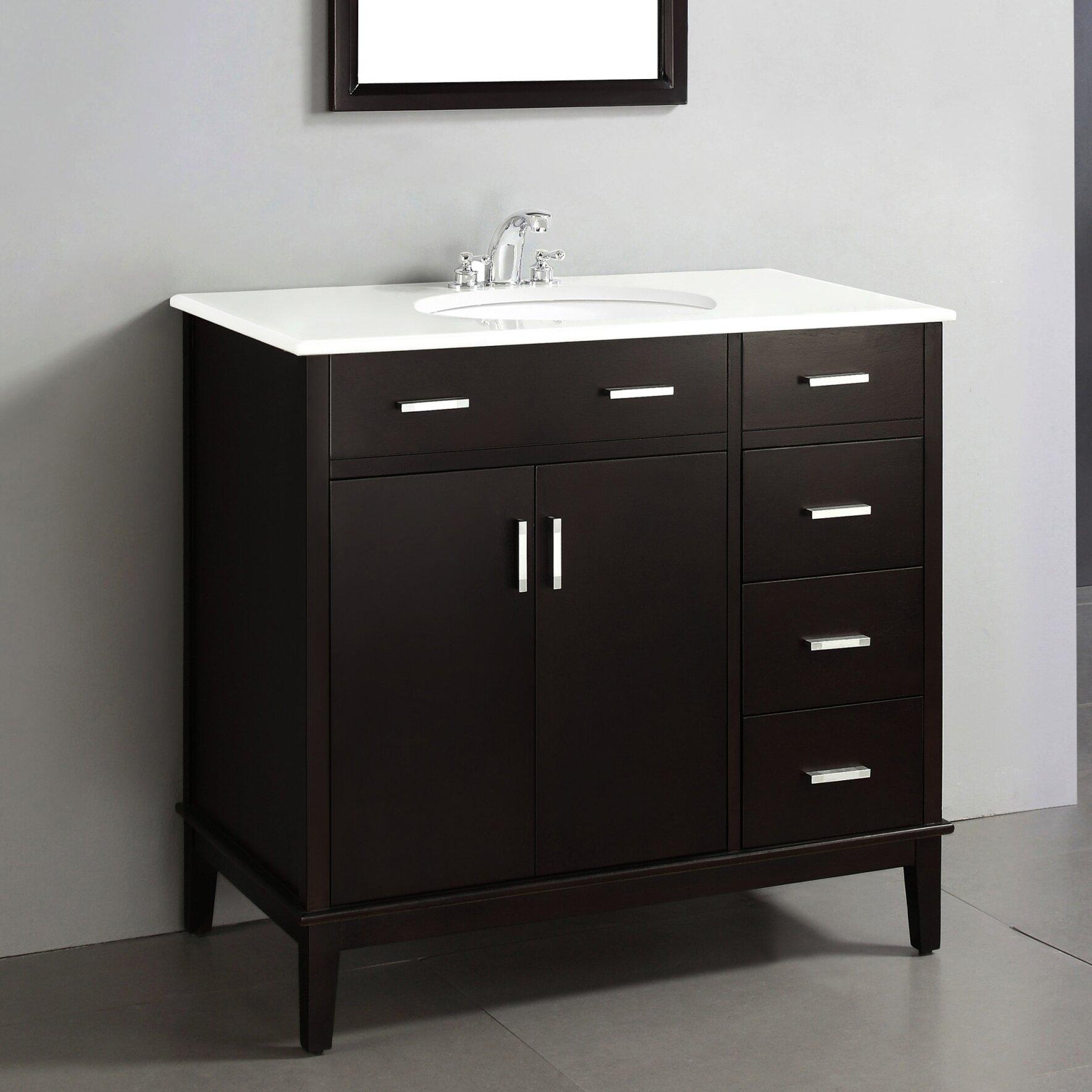 Simpli Home Urban Loft 36 Quot Single Bathroom Vanity Set