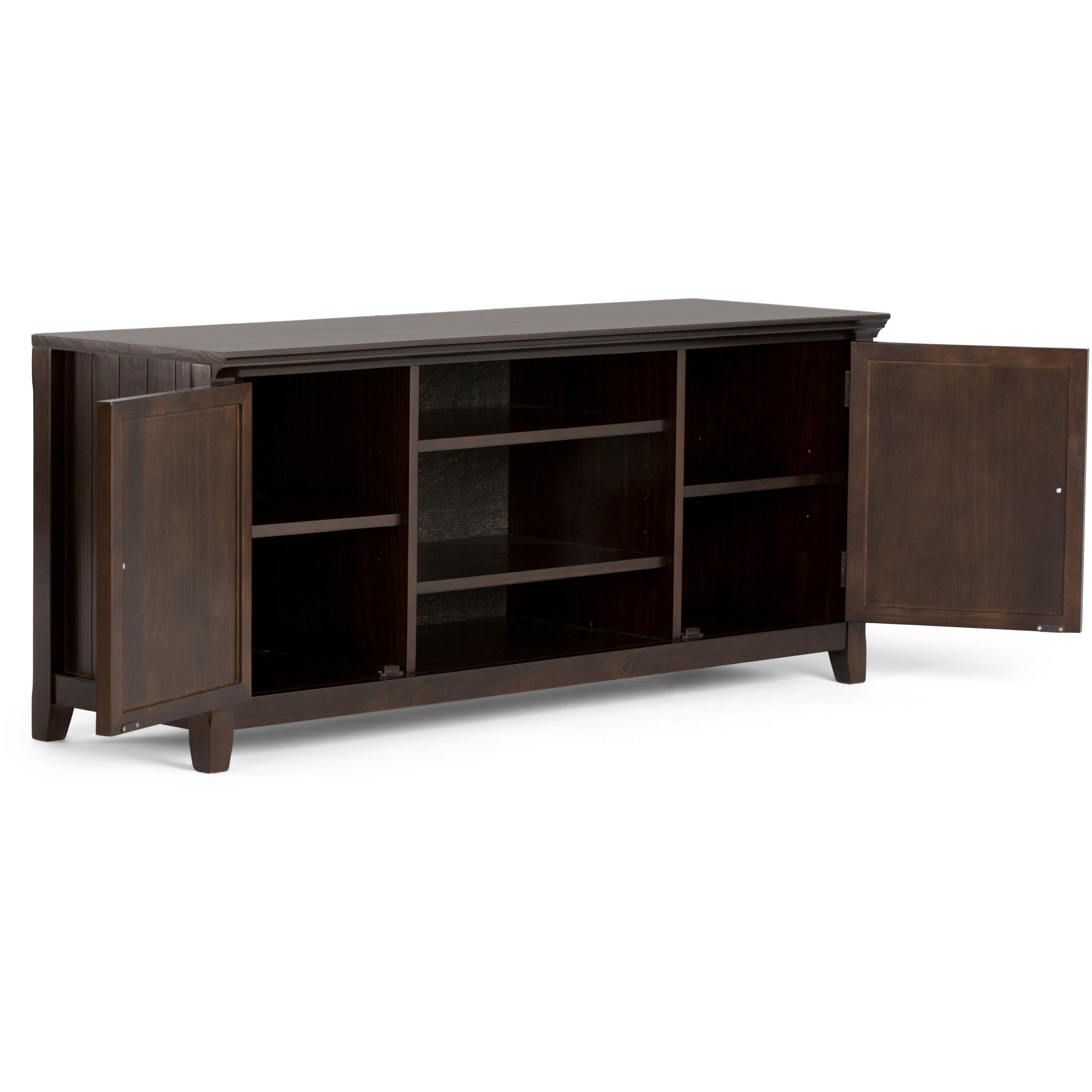 simpli home acadian tv stand reviews wayfair. Black Bedroom Furniture Sets. Home Design Ideas