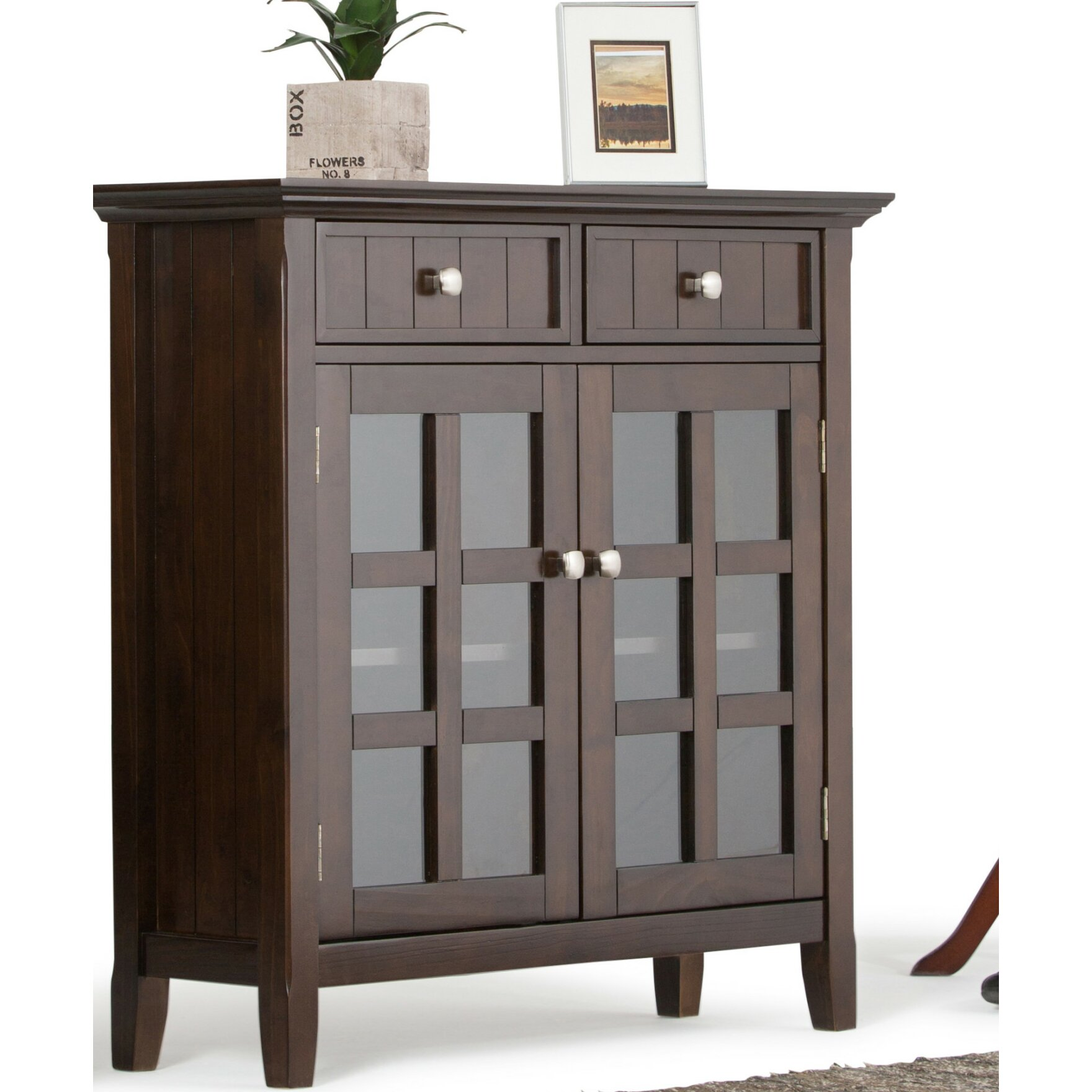 Simpli Home Acadian 2 Drawer Entryway Storage Cabinet | Wayfair