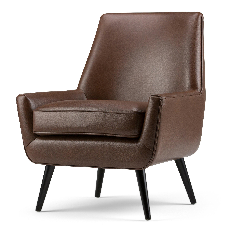 simpli home warhol mid century side chair wayfair. Black Bedroom Furniture Sets. Home Design Ideas
