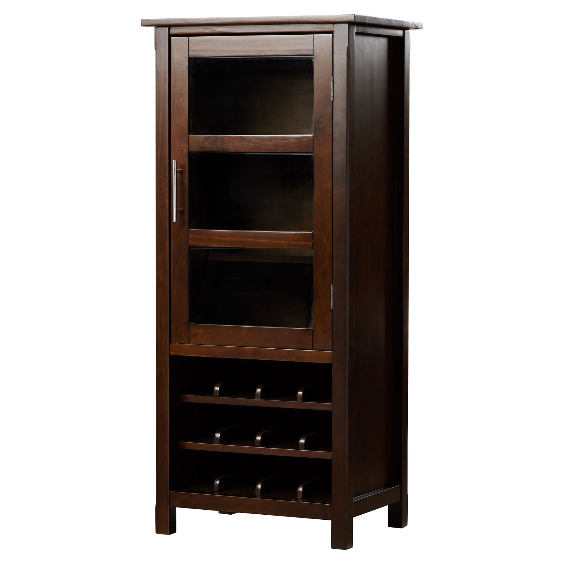 Simpli Home Avalon Bar Cabinet With Wine Storage Amp Reviews