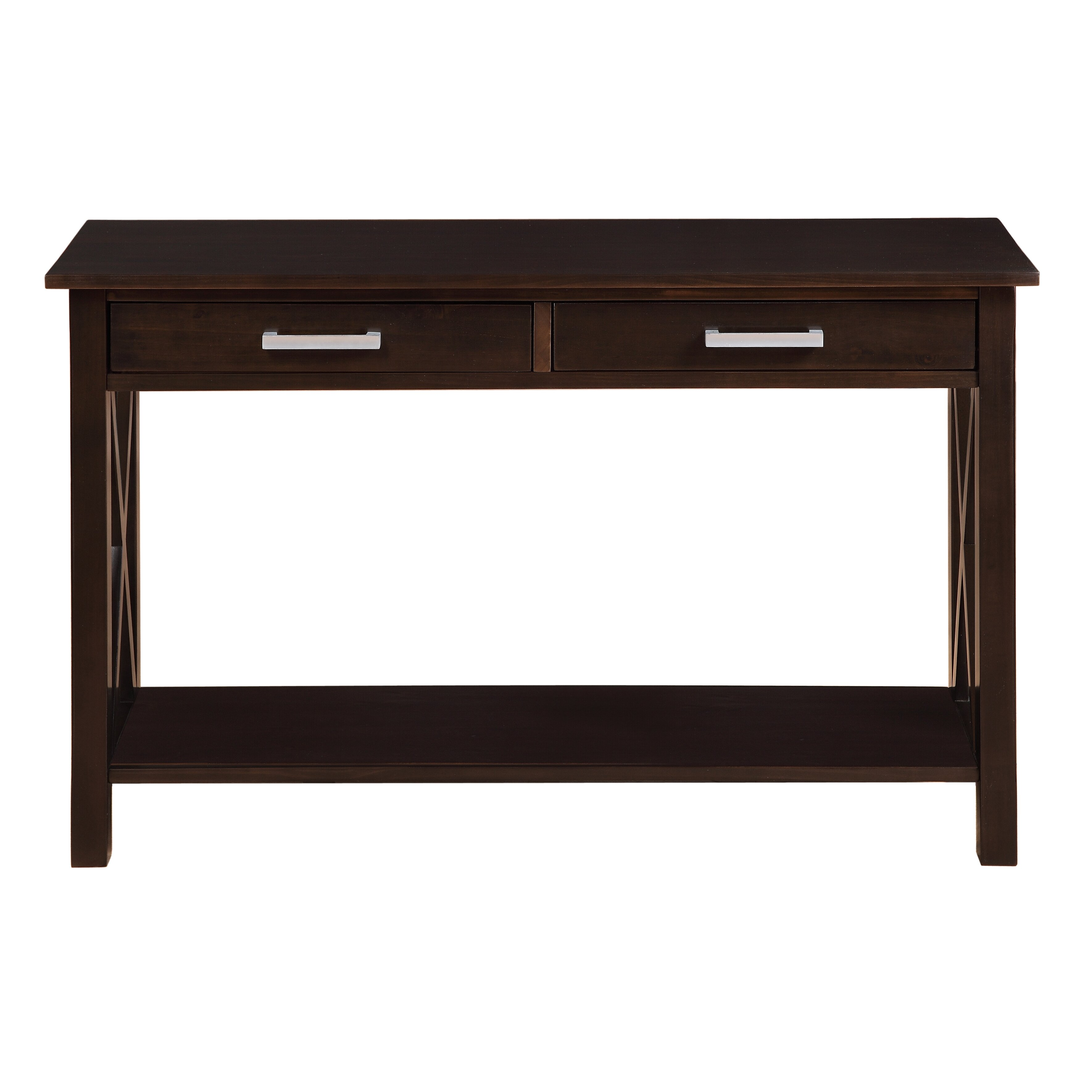 simpli home kitchener console table reviews wayfair