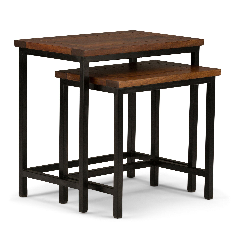 simpli home skyler nesting 2 piece end table wayfair. Black Bedroom Furniture Sets. Home Design Ideas