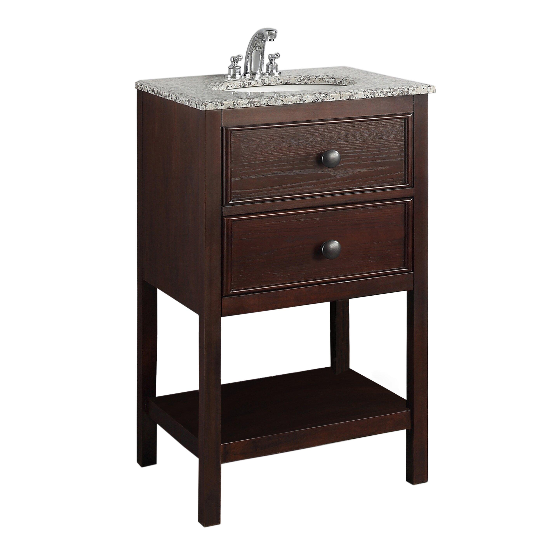 simpli home burnaby 21 single bathroom vanity set. Black Bedroom Furniture Sets. Home Design Ideas