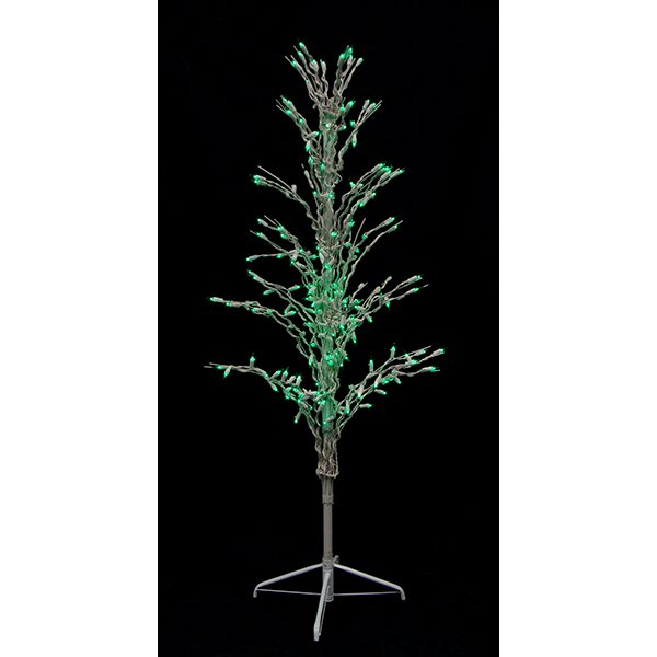 Lb international 4 39 lighted christmas cascade twig tree for Art decoration international
