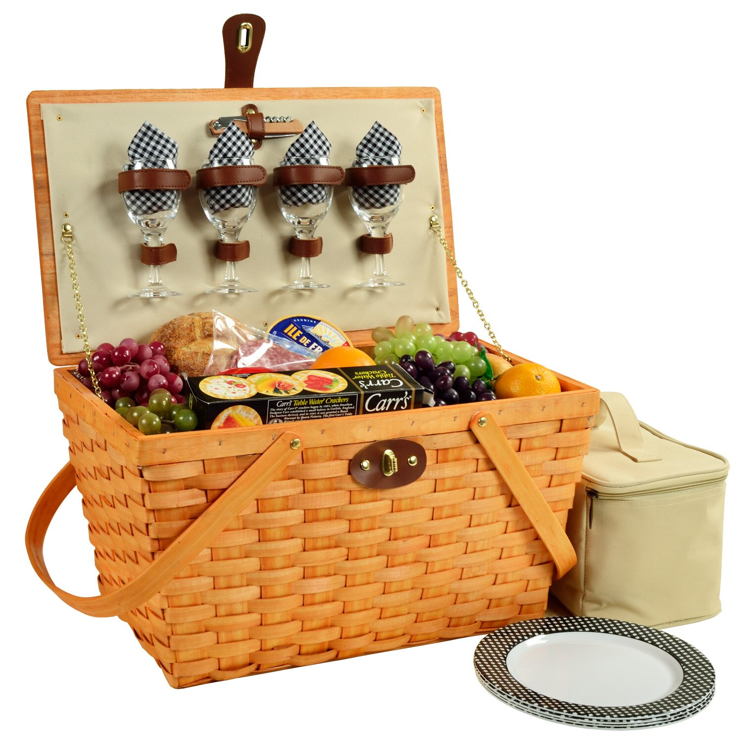 Amberley Ascot 4 Person Picnic Basket : Picnic at ascot settler person basket reviews