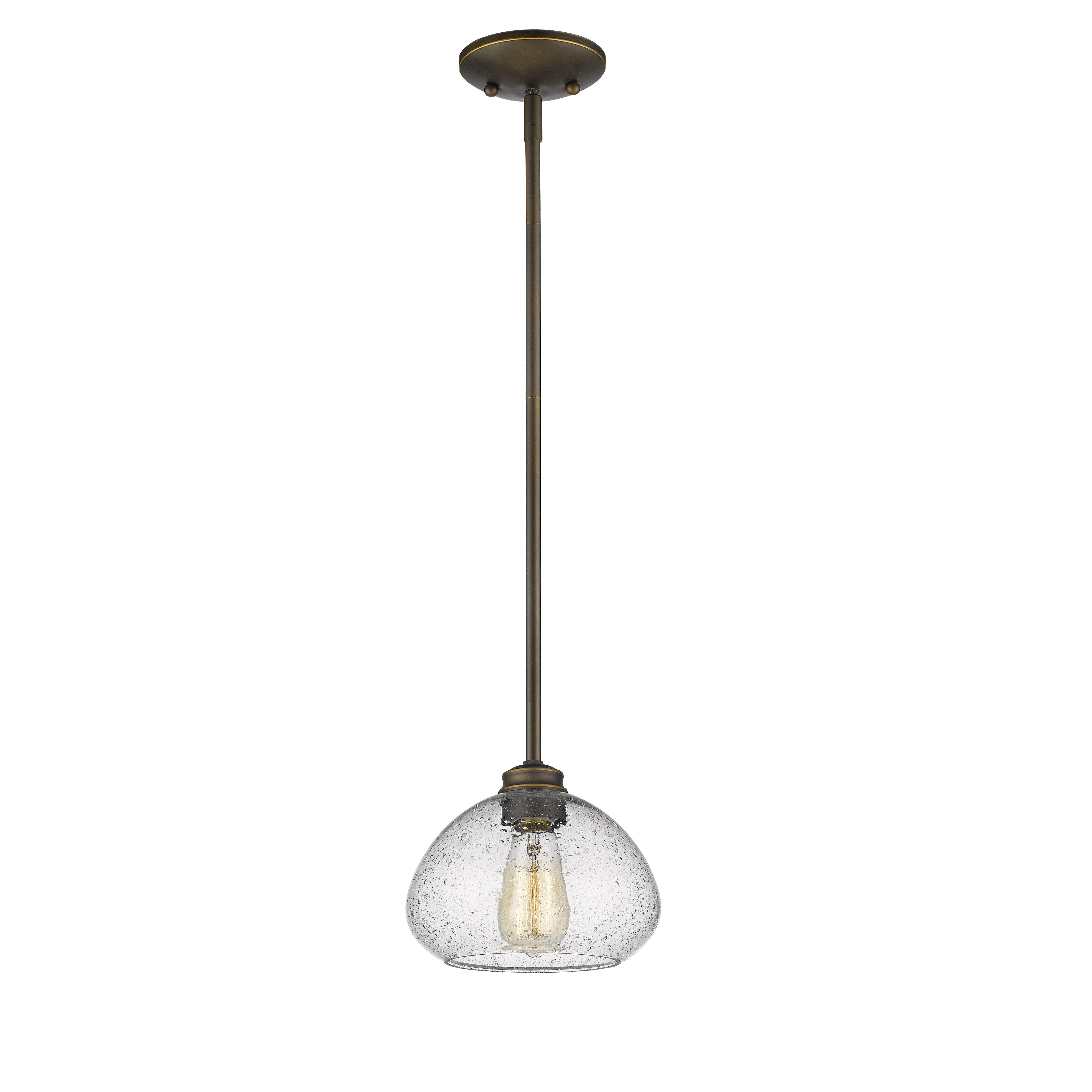 Z lite amon 1 light mini pendant reviews for Mini pendant lights