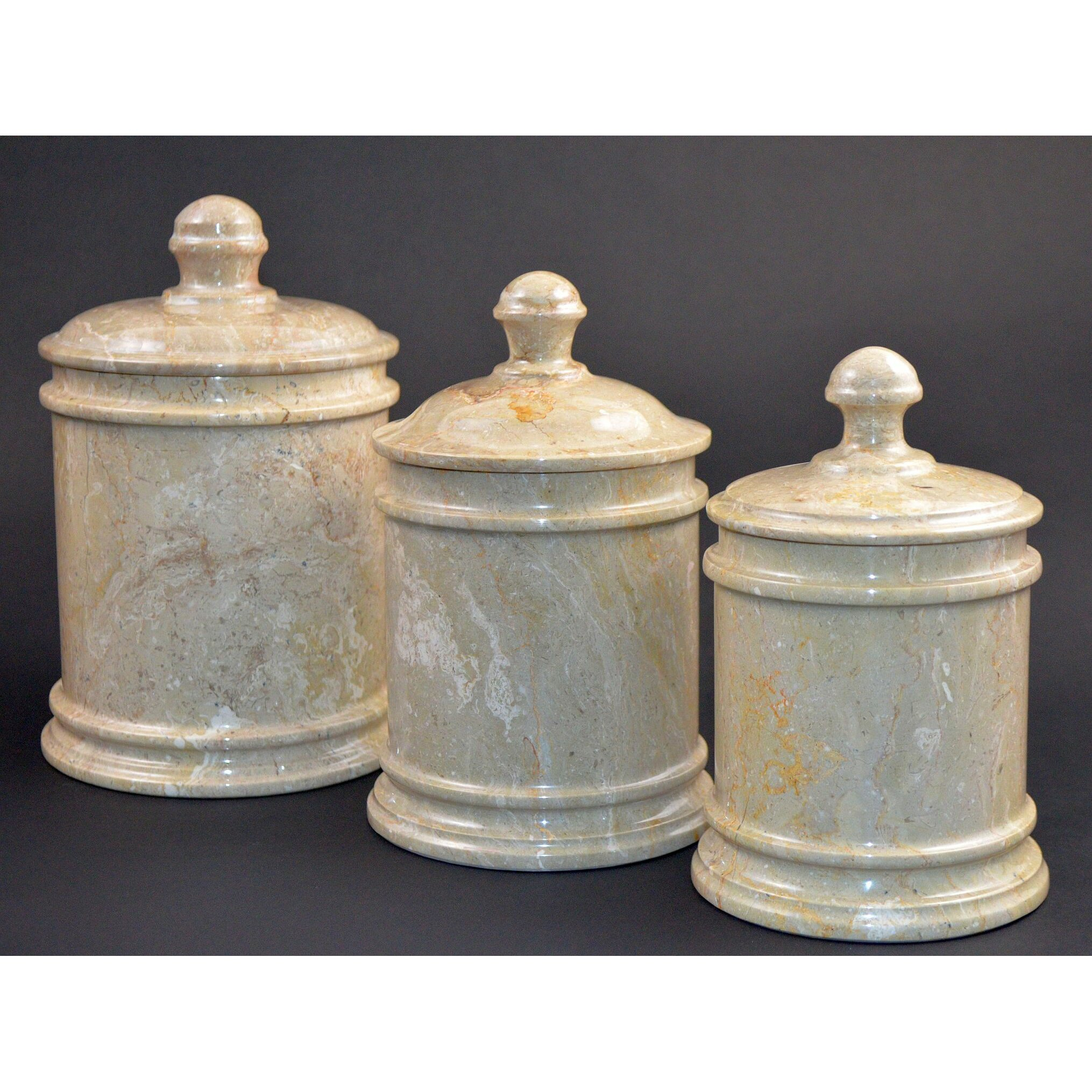 Nature Home Decor Sahara Marble Kitchen Canister & Reviews