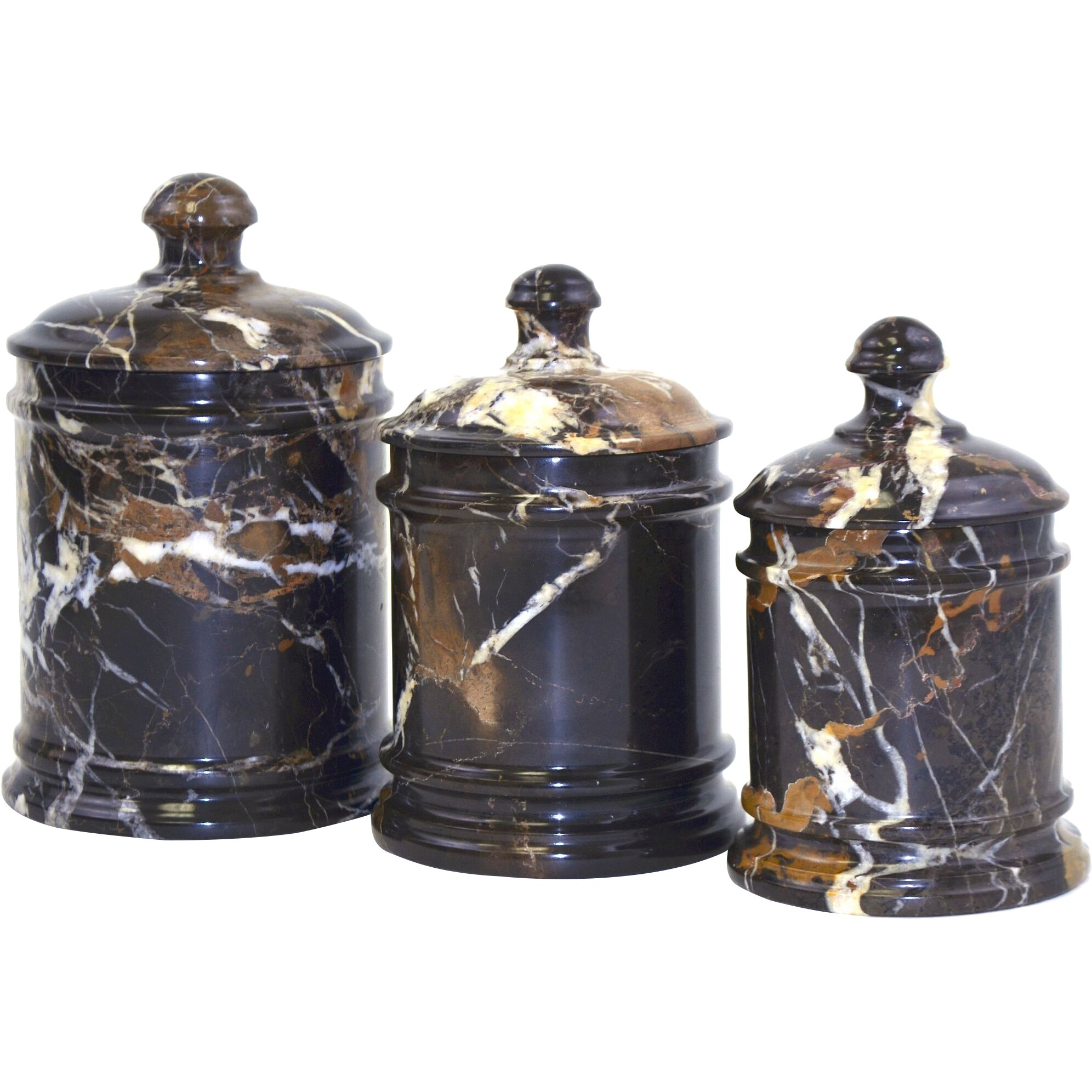 Nature Home Decor Michelangelo Marble Kitchen Canister
