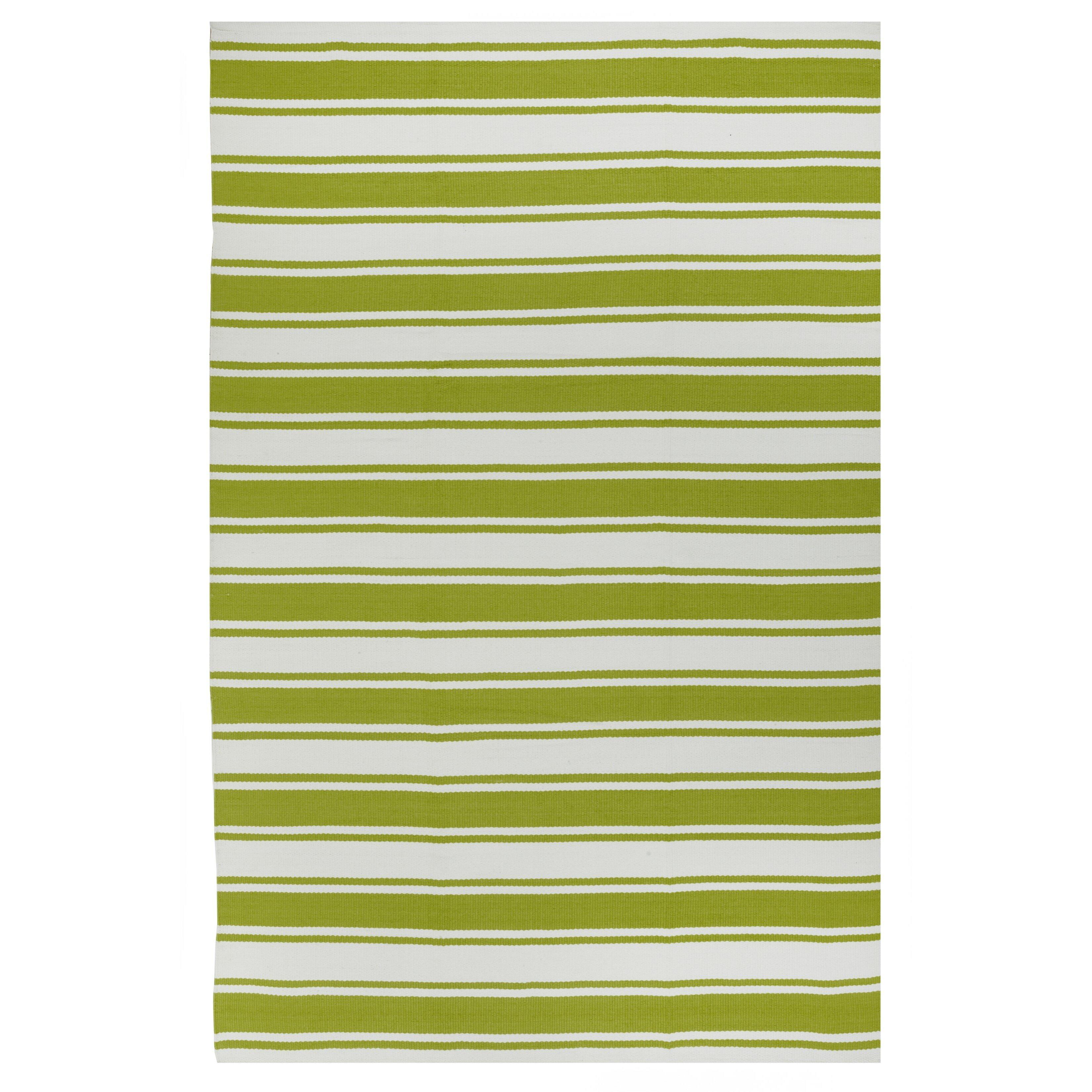 fab habitat lucky green white striped indoor outdoor area rug wayfair