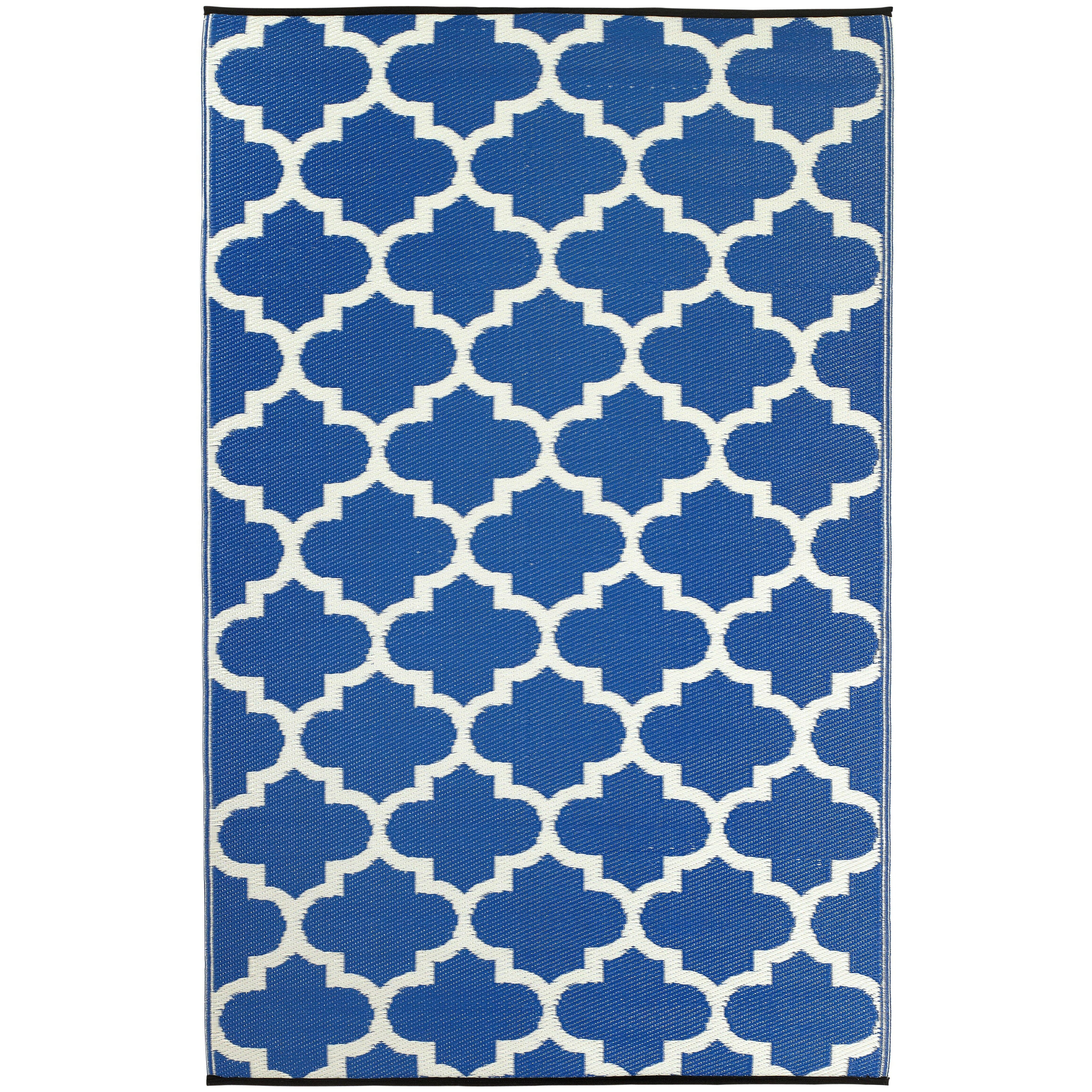 Fab Rugs World Tangier Regatta Blue & White Indoor Outdoor