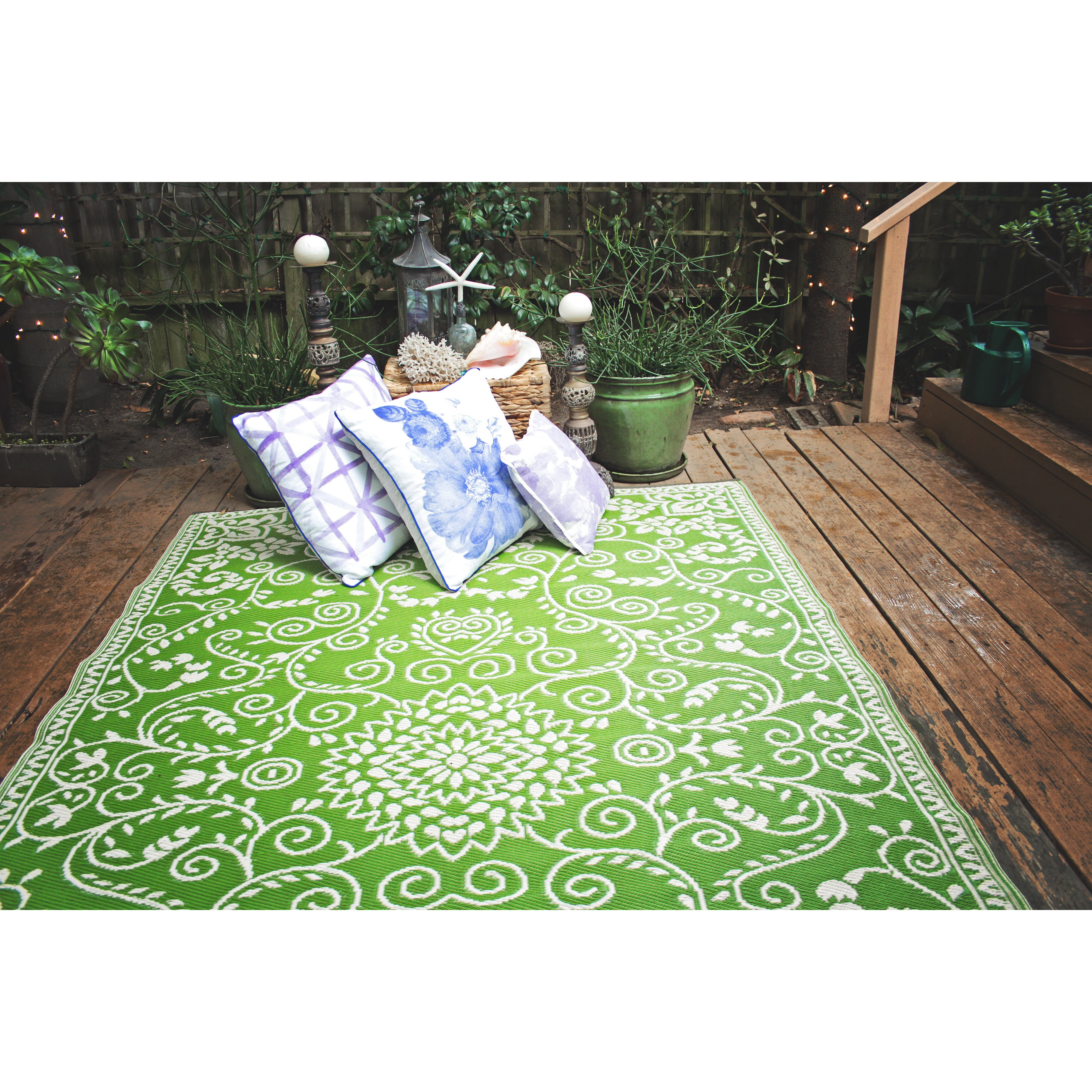 Fab rugs world murano lime green indoor outdoor area rug for Indoor outdoor carpet green
