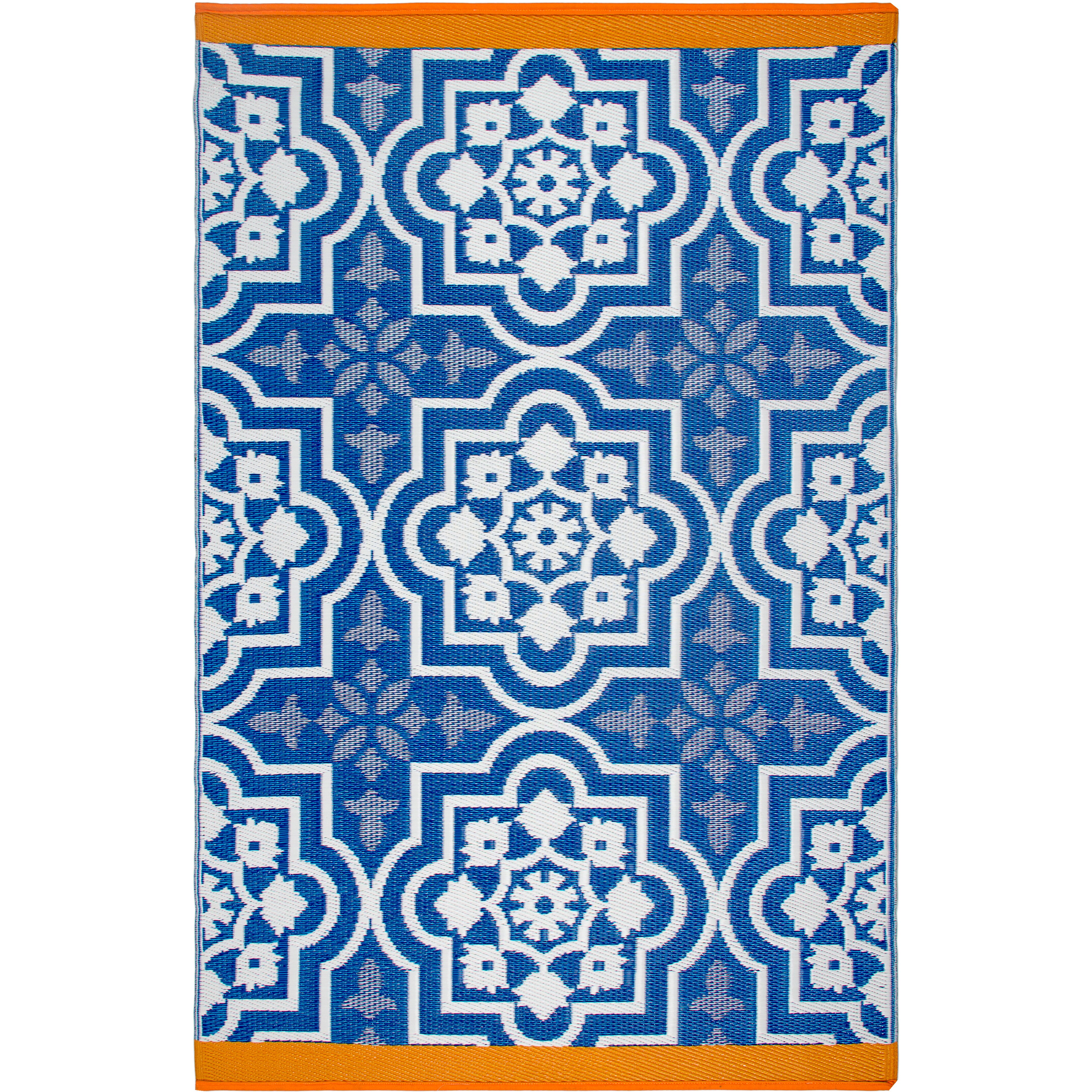 Fab Rugs Estate Blue Indoor Outdoor Area Rug & Reviews