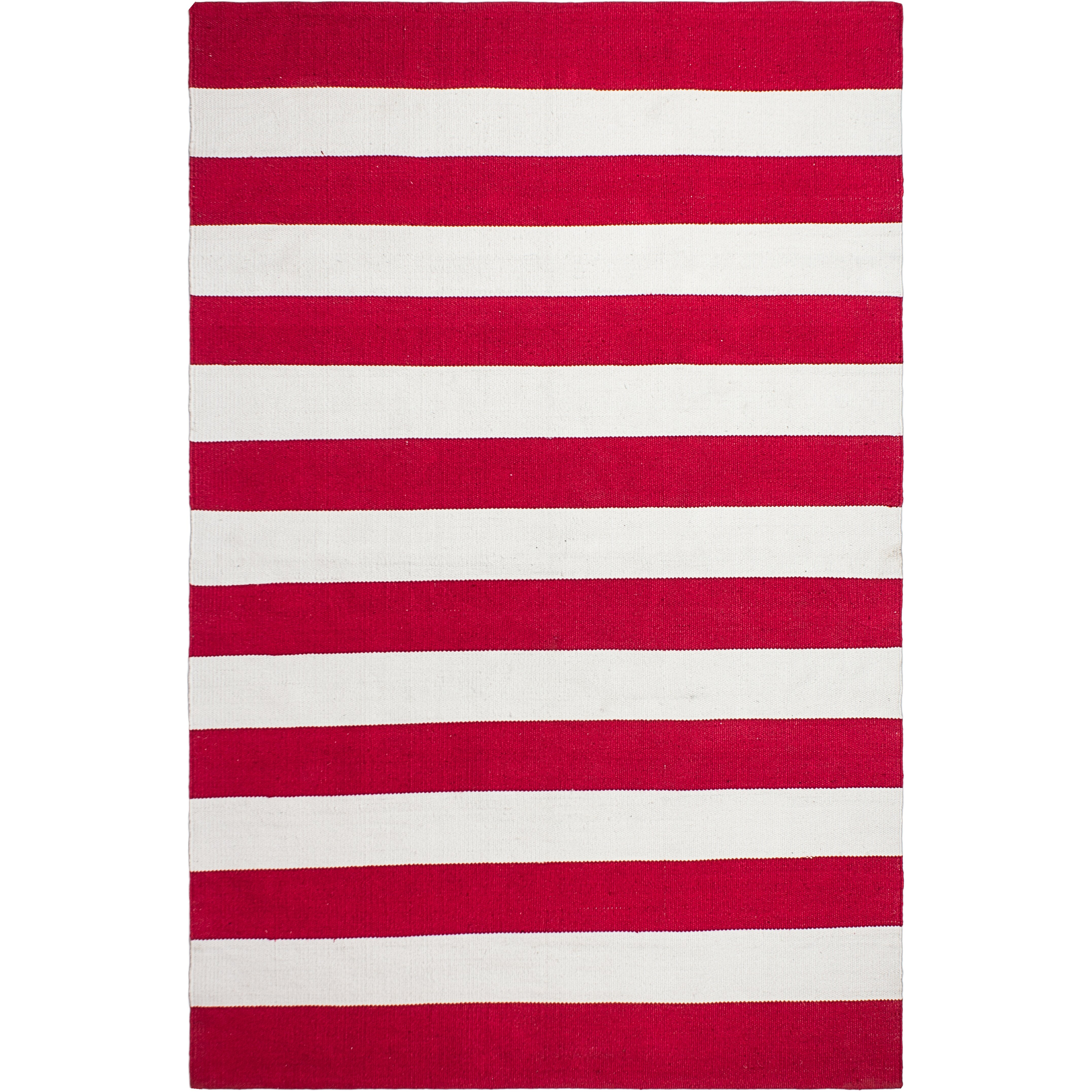 fab rugs nantucket striped red white indoor outdoor area