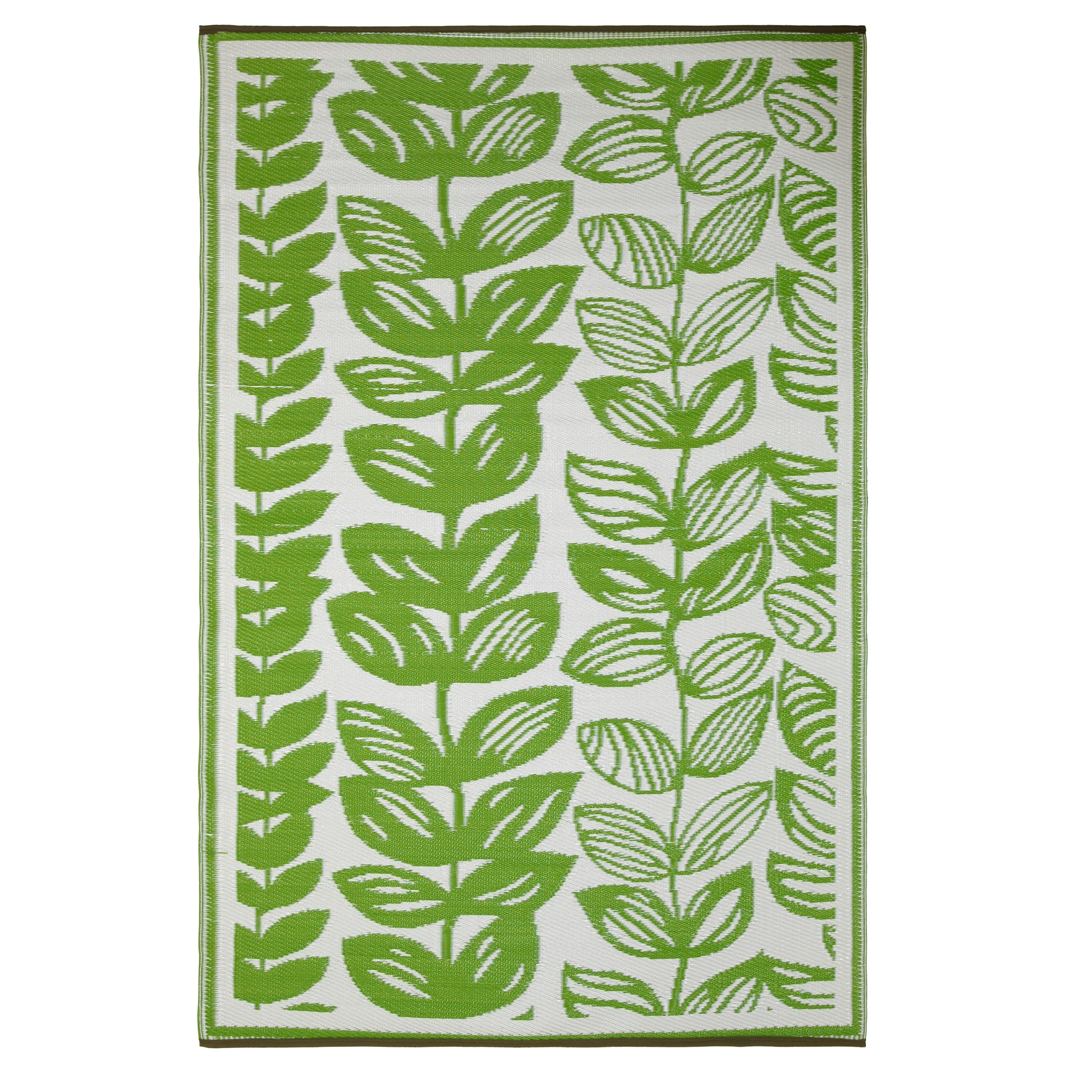 fab rugs world male cream green indoor outdoor area rug reviews wayfair. Black Bedroom Furniture Sets. Home Design Ideas