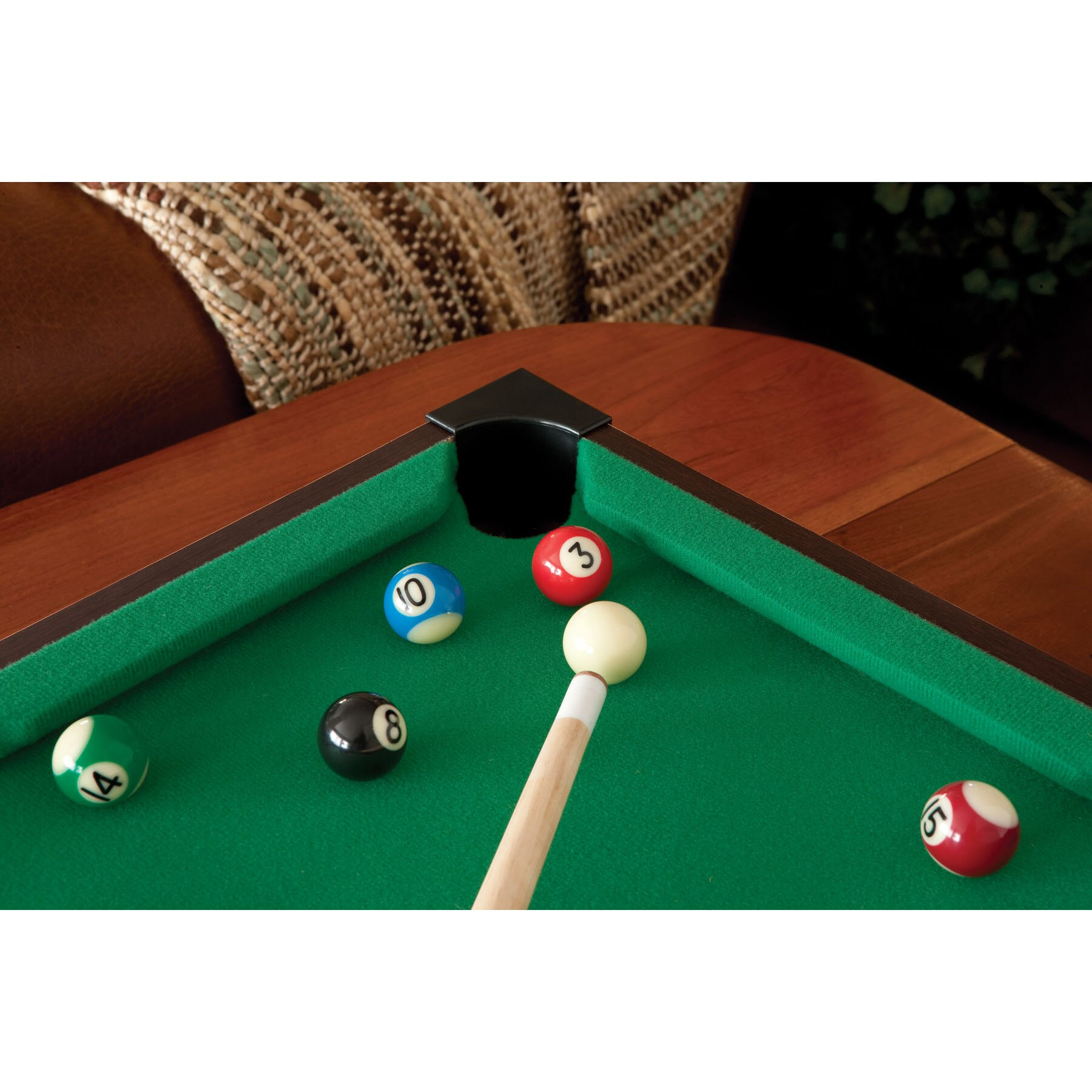 GLD Products Main Street Classics 2' Table Top Pool Table ...