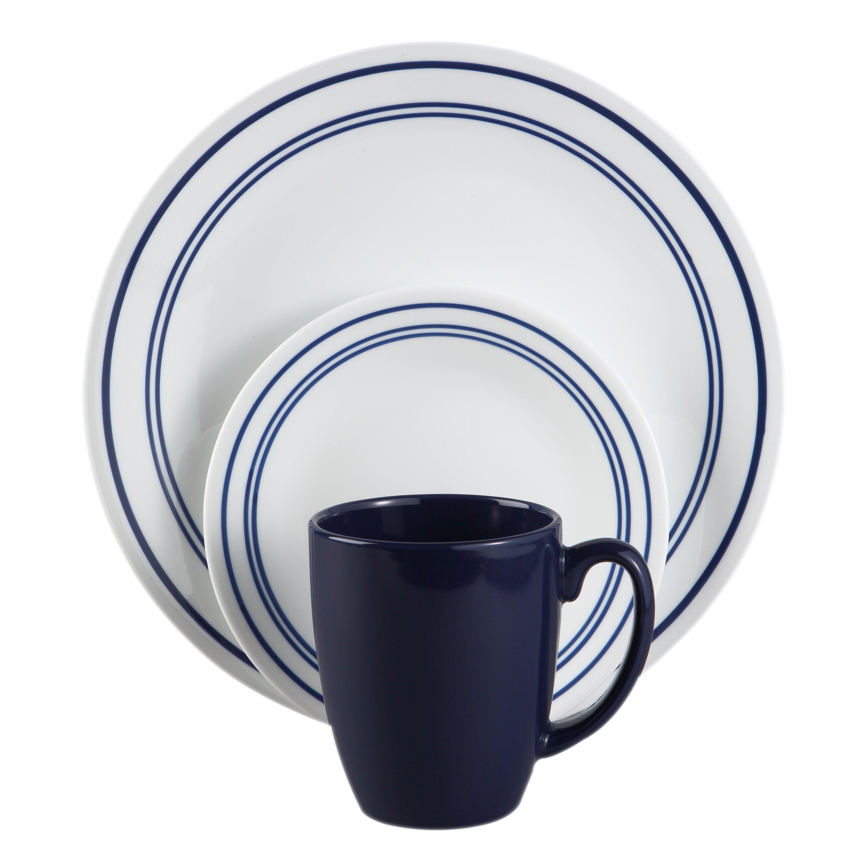 Corelle Livingware Classic Cafe 16 Piece Dinnerware Set Reviews Wayfair
