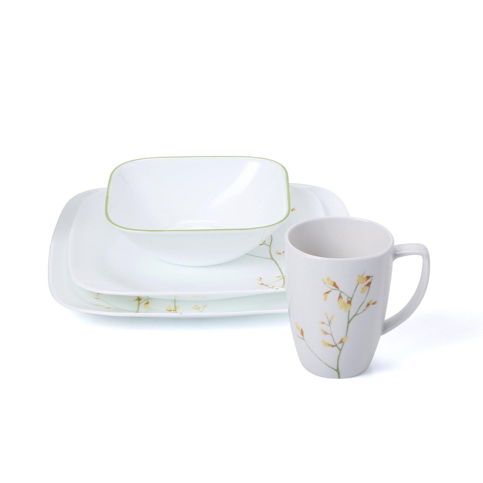 corelle kobe 16 piece dinnerware set reviews wayfair. Black Bedroom Furniture Sets. Home Design Ideas