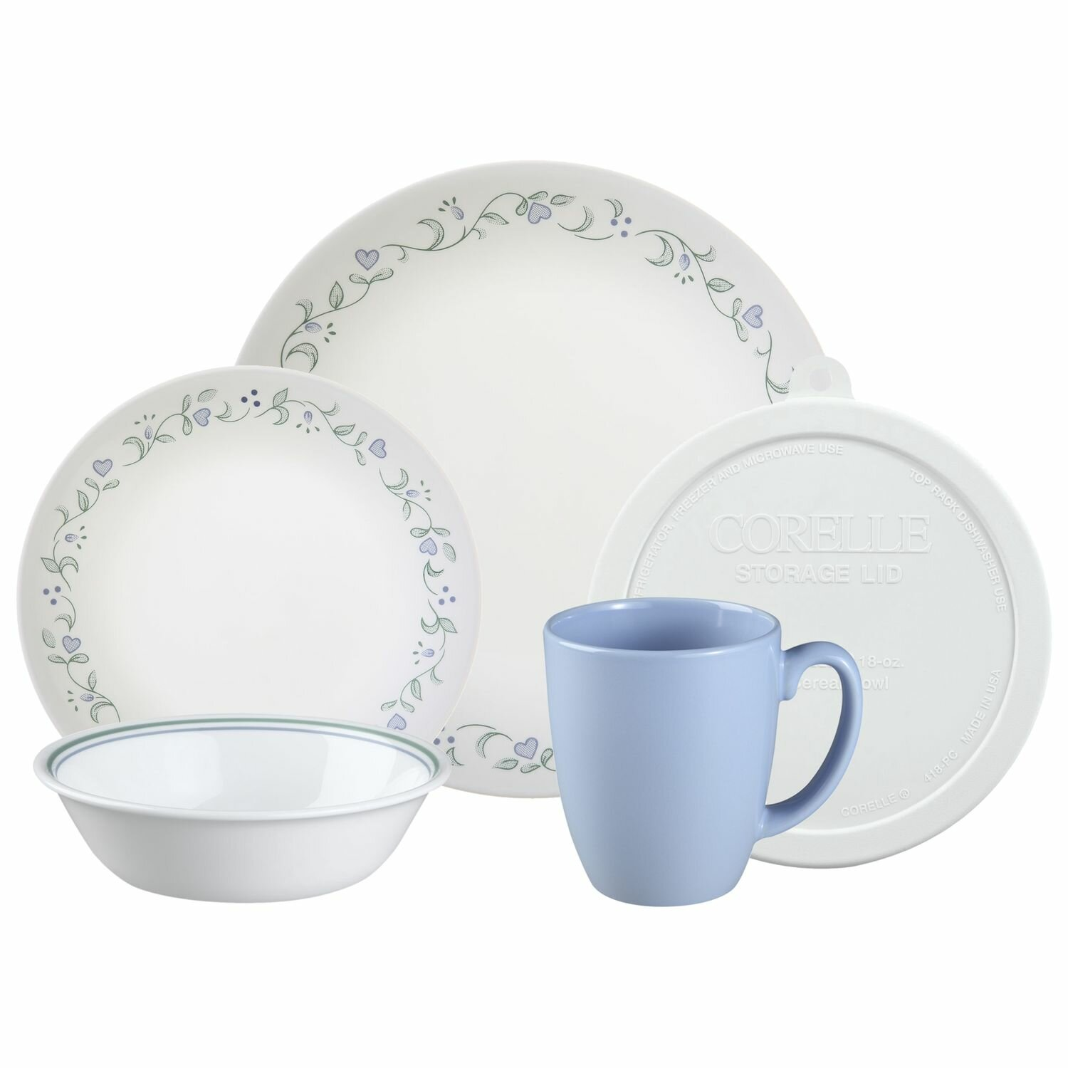 Corelle Livingware Country Cottage 20 Piece Dinnerware Set