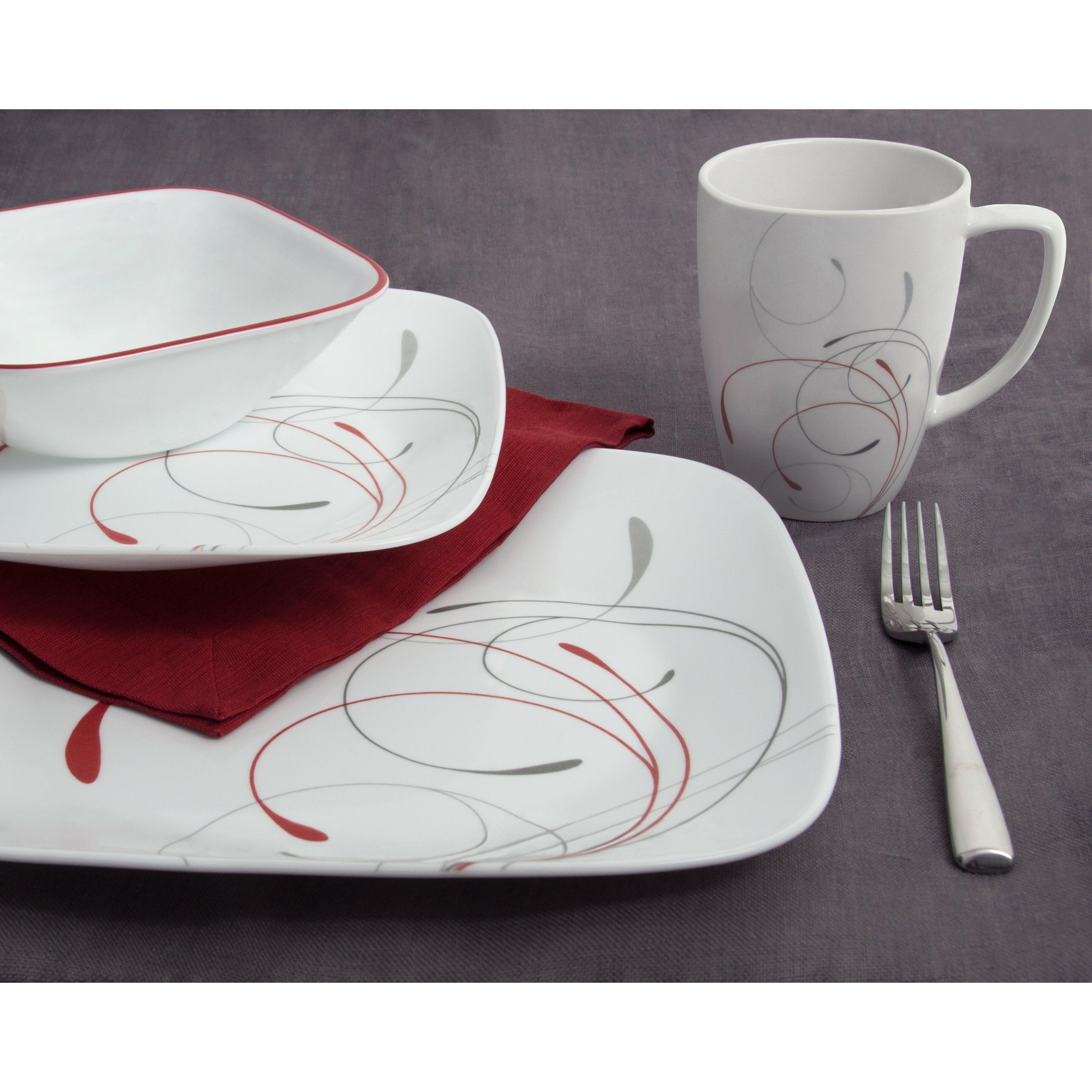 Corelle Splendor 16 Piece Dinnerware Set Amp Reviews Wayfair
