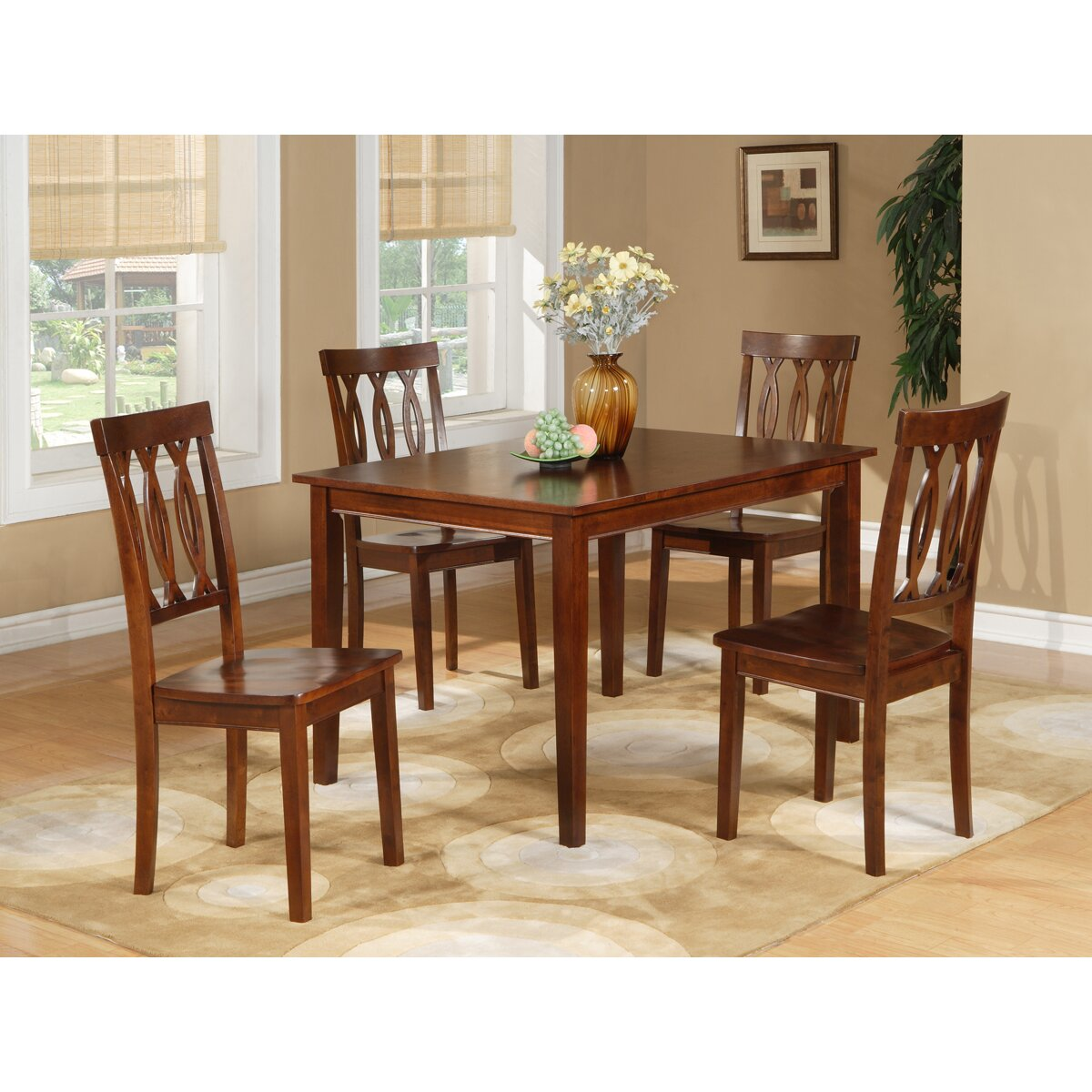 Supply Furniture Dining Sets Williams Import Co. SKU: WQF1063. Full resolution  portrait, nominally Width 1200 Height 1200 pixels, portrait with #69381E.