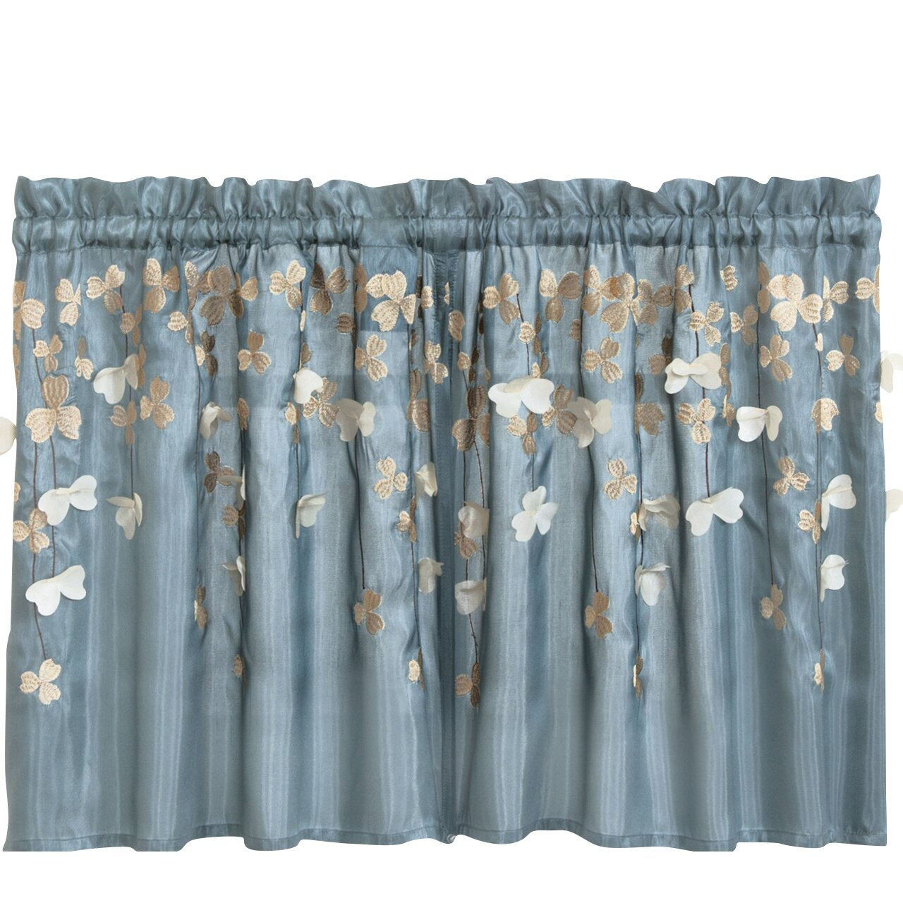 Lush Decor Flower Kitchen Light Filtering Tier Curtain Reviews Wayfair