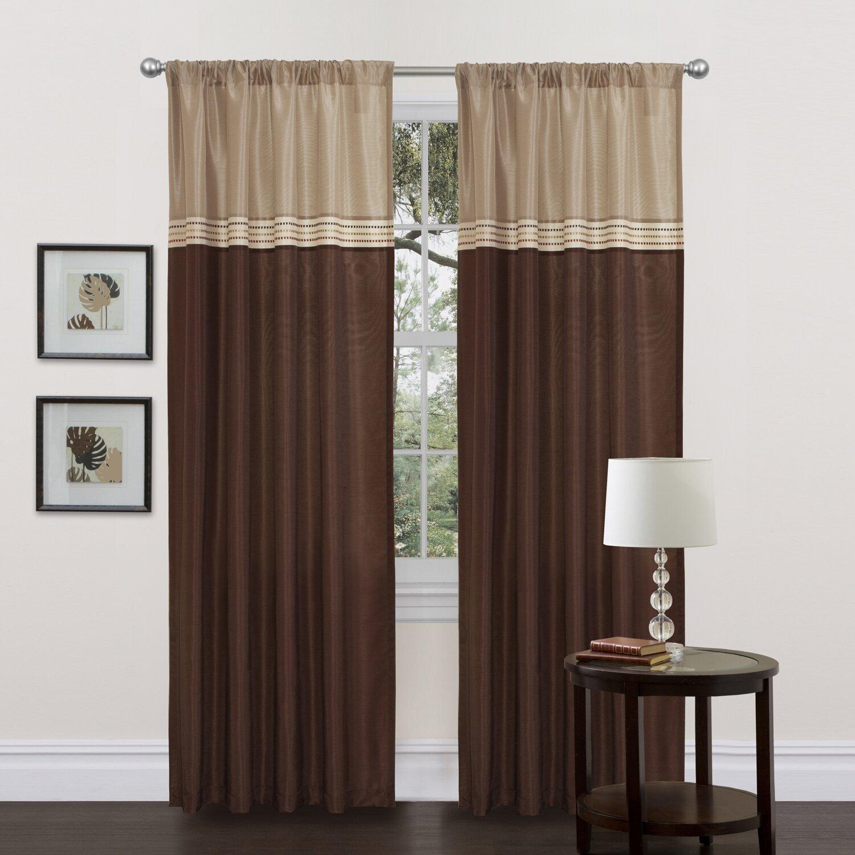 Lush decor terra synthetic rod pocket curtain panel pair for Decor curtains