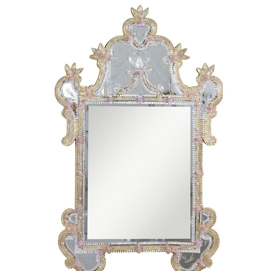 Elegant lighting murano wall mirror reviews wayfair for Elegant mirrors