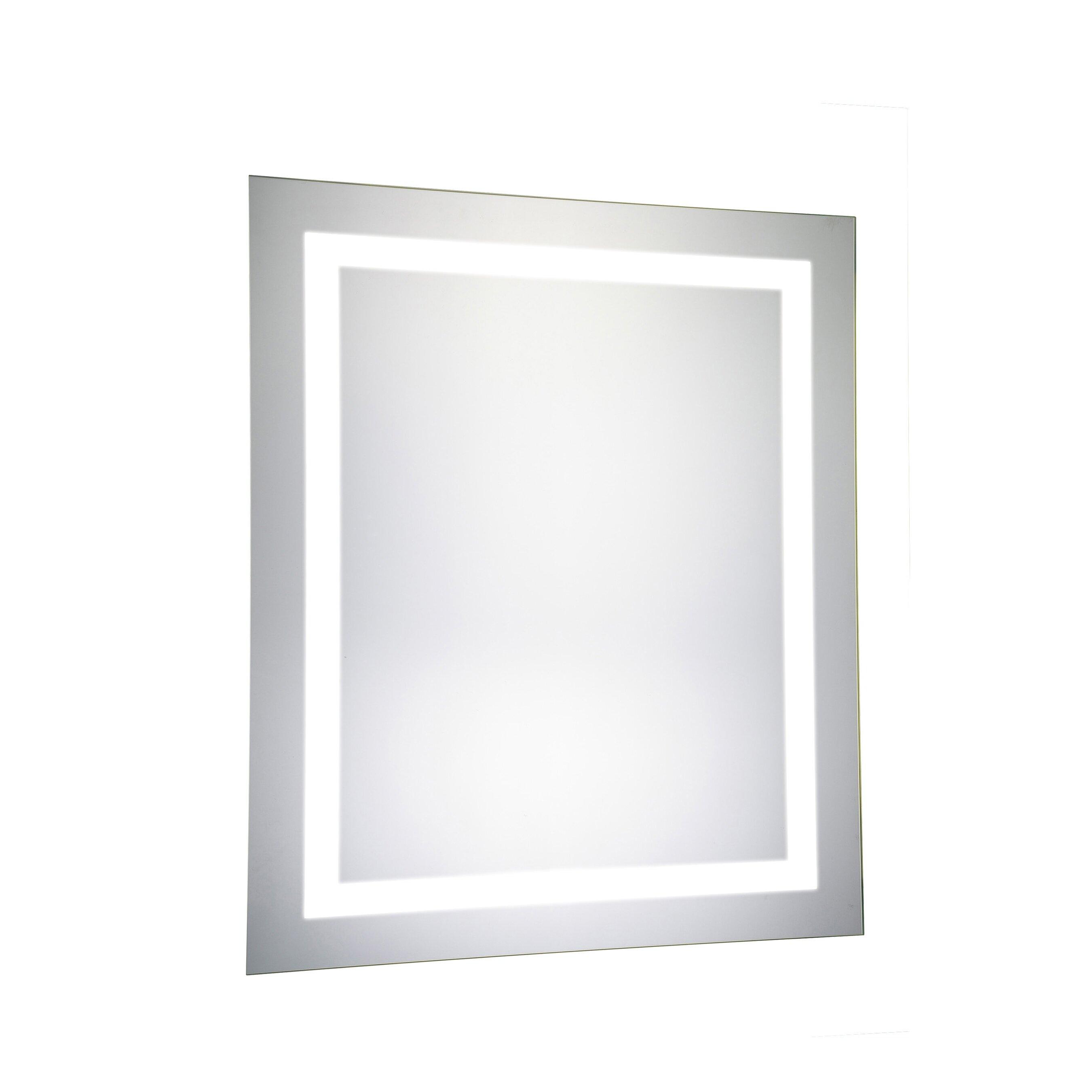 Elegant lighting nova led electric rectangle mirror for Elegant mirrors