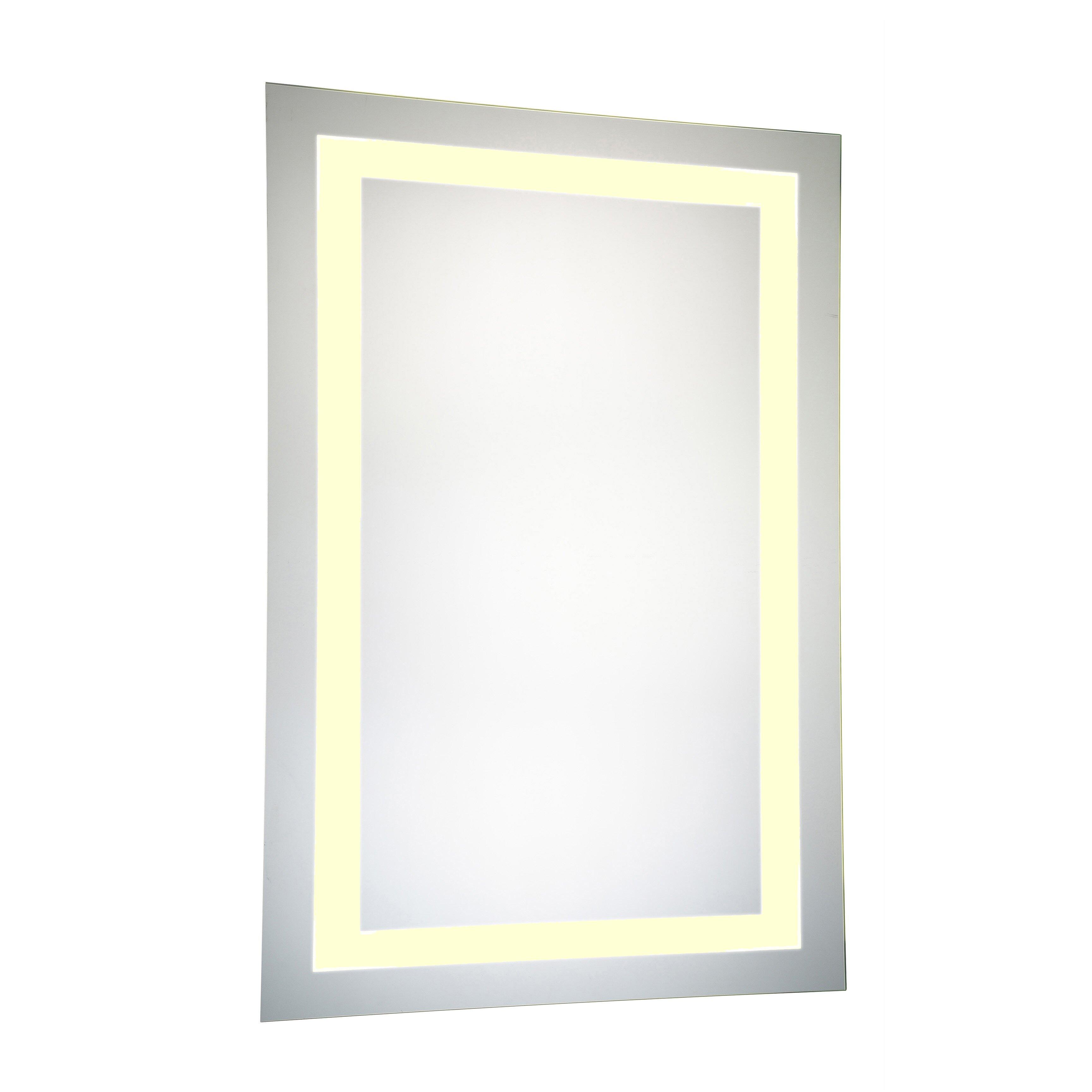 Elegant lighting nova led electric rectangle mirror wayfair for Elegant mirrors