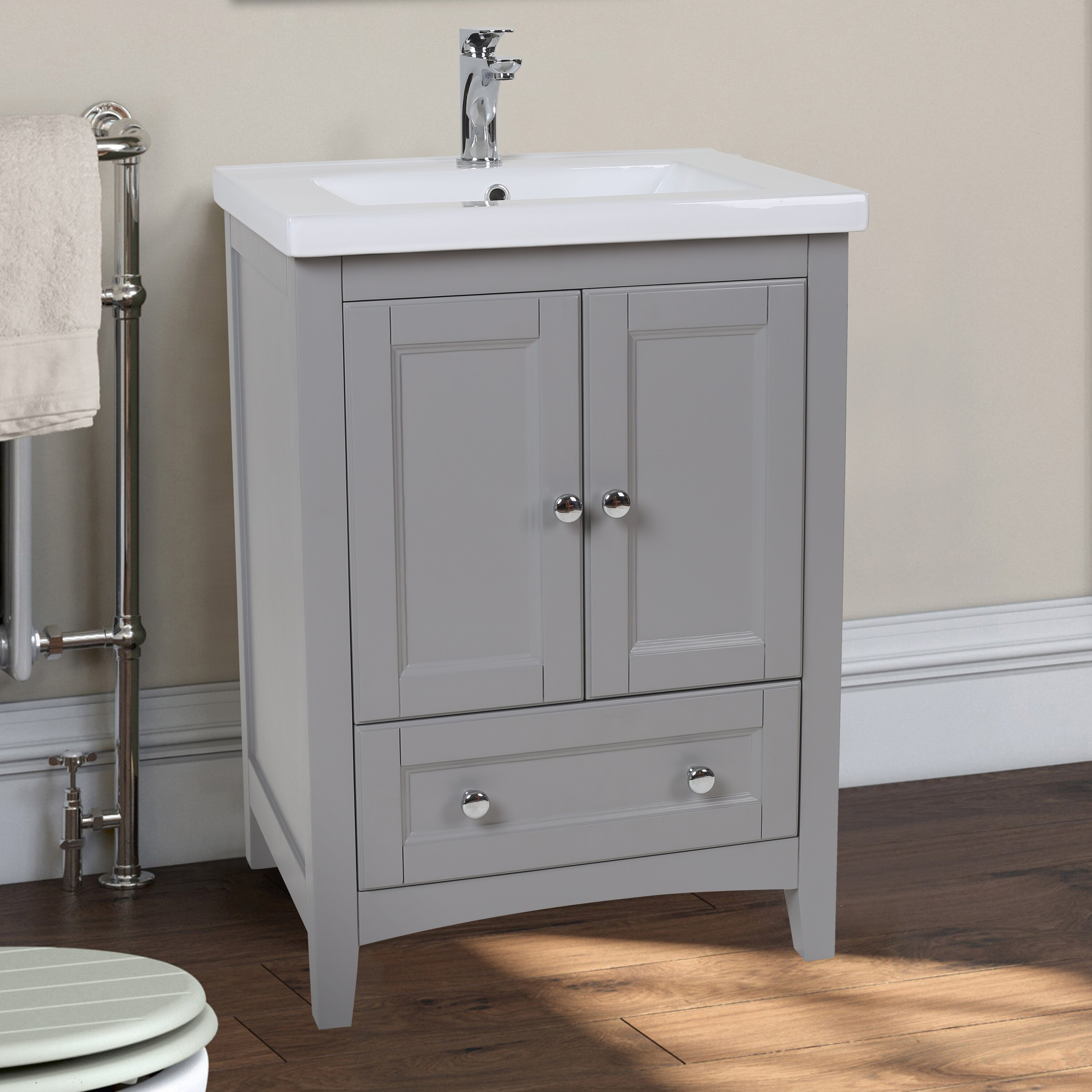 Elegant lighting danville 24 single bathroom vanity set for Restroom vanity