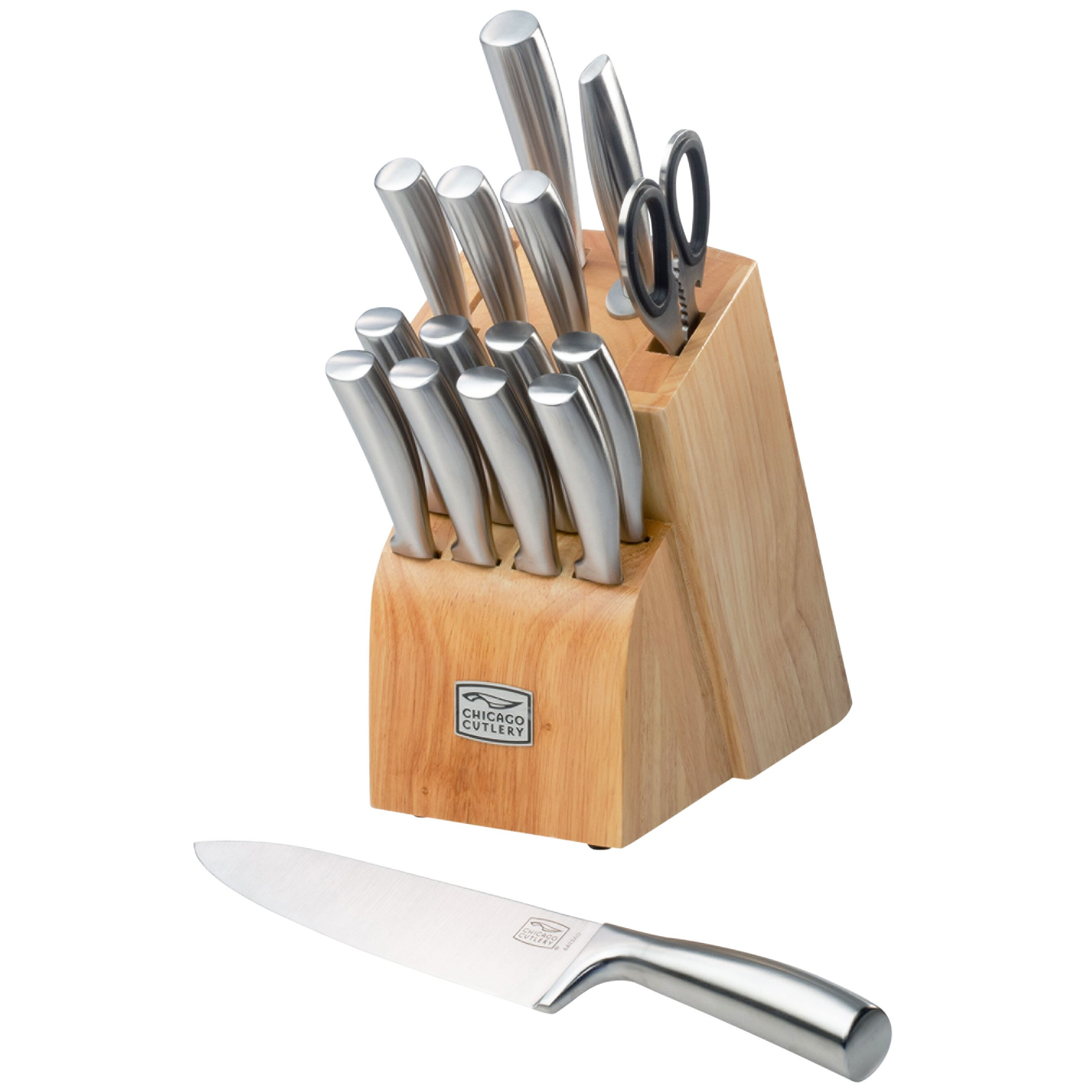 chicago cutlery elston 16 piece block set reviews wayfair. Black Bedroom Furniture Sets. Home Design Ideas