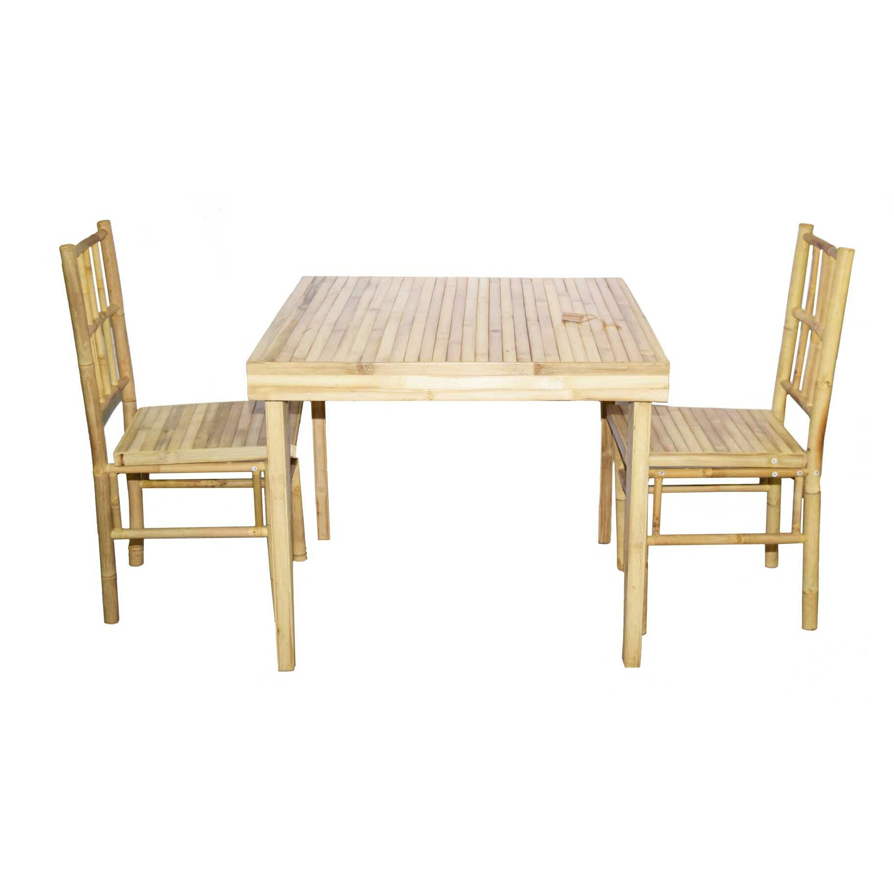 Bamboo54 3 Piece Dining Set Reviews Wayfair