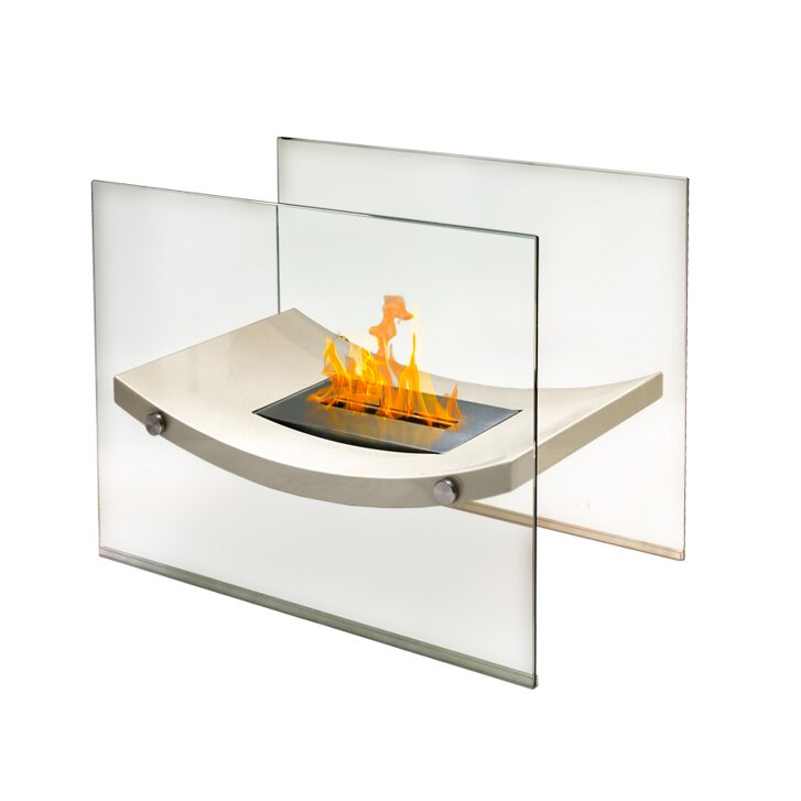 Anywhere Fireplaces Glass Bio Ethanol Fire Pit Table