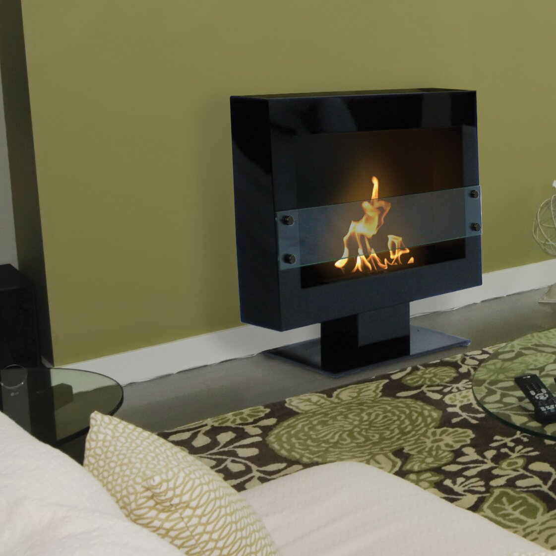 Anywhere Fireplaces Tribeca Free Standing Bio-Ethanol ...