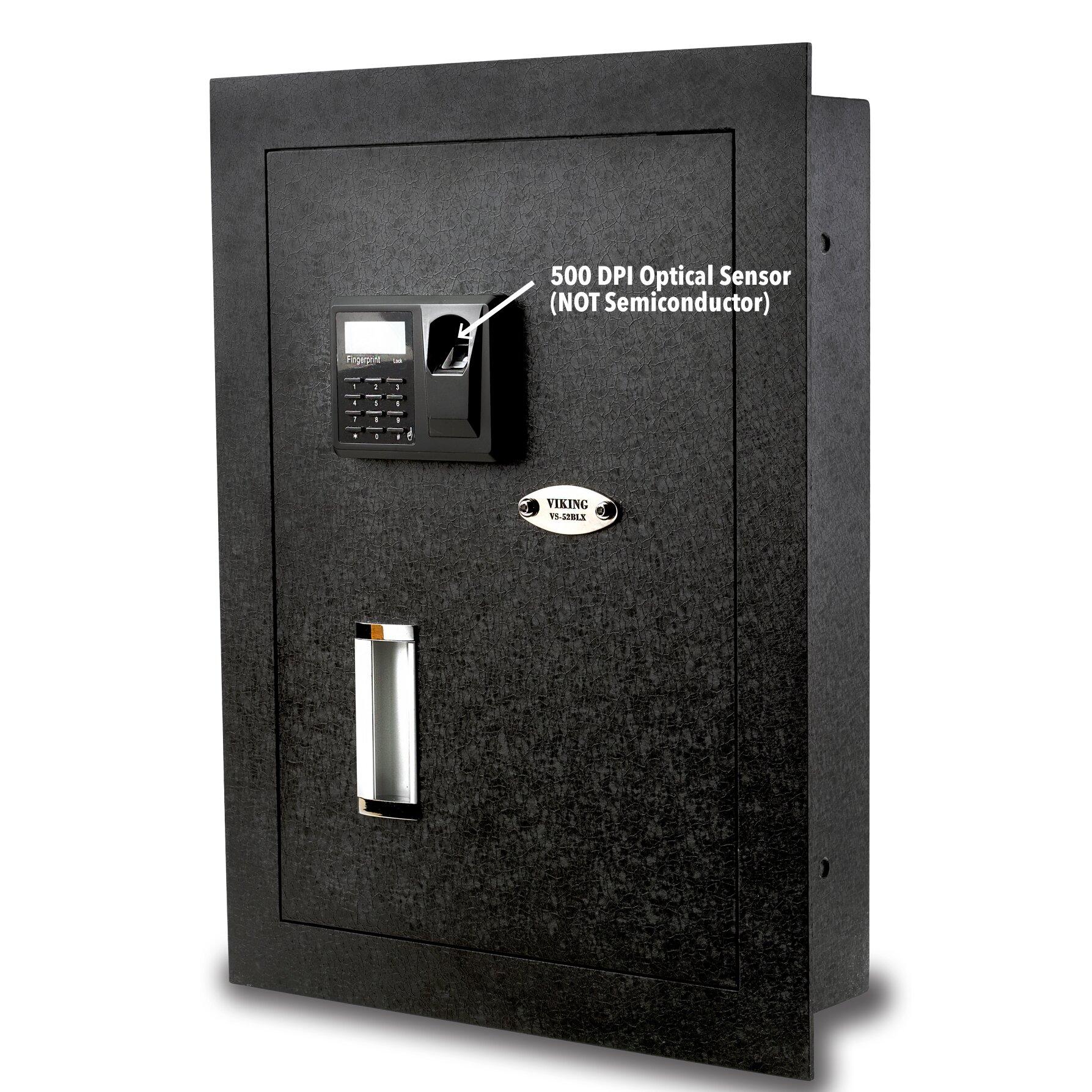 Viking Security Safe Viking Security Safe Biometric Lock Hidden Wall Safe Reviews Wayfair