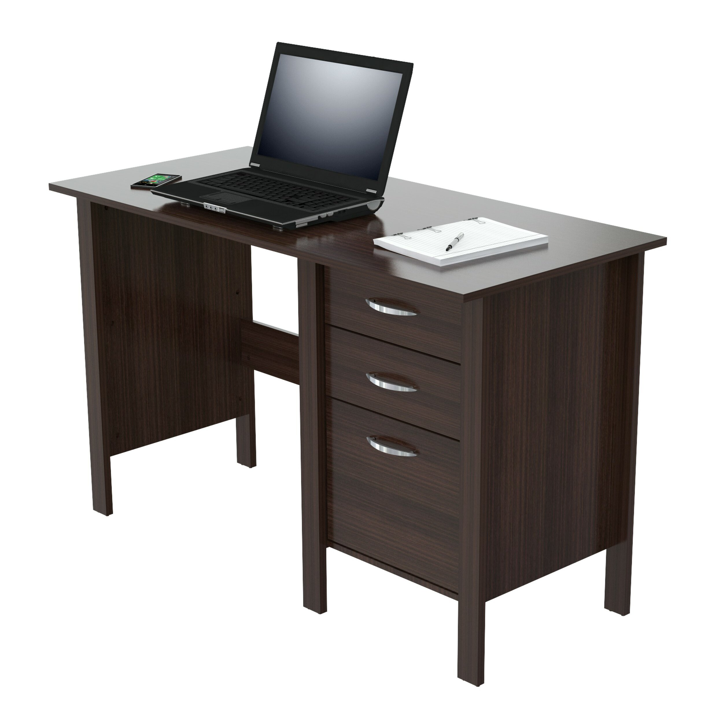 Inval Computer Desk With 3 Drawers Amp Reviews Wayfair