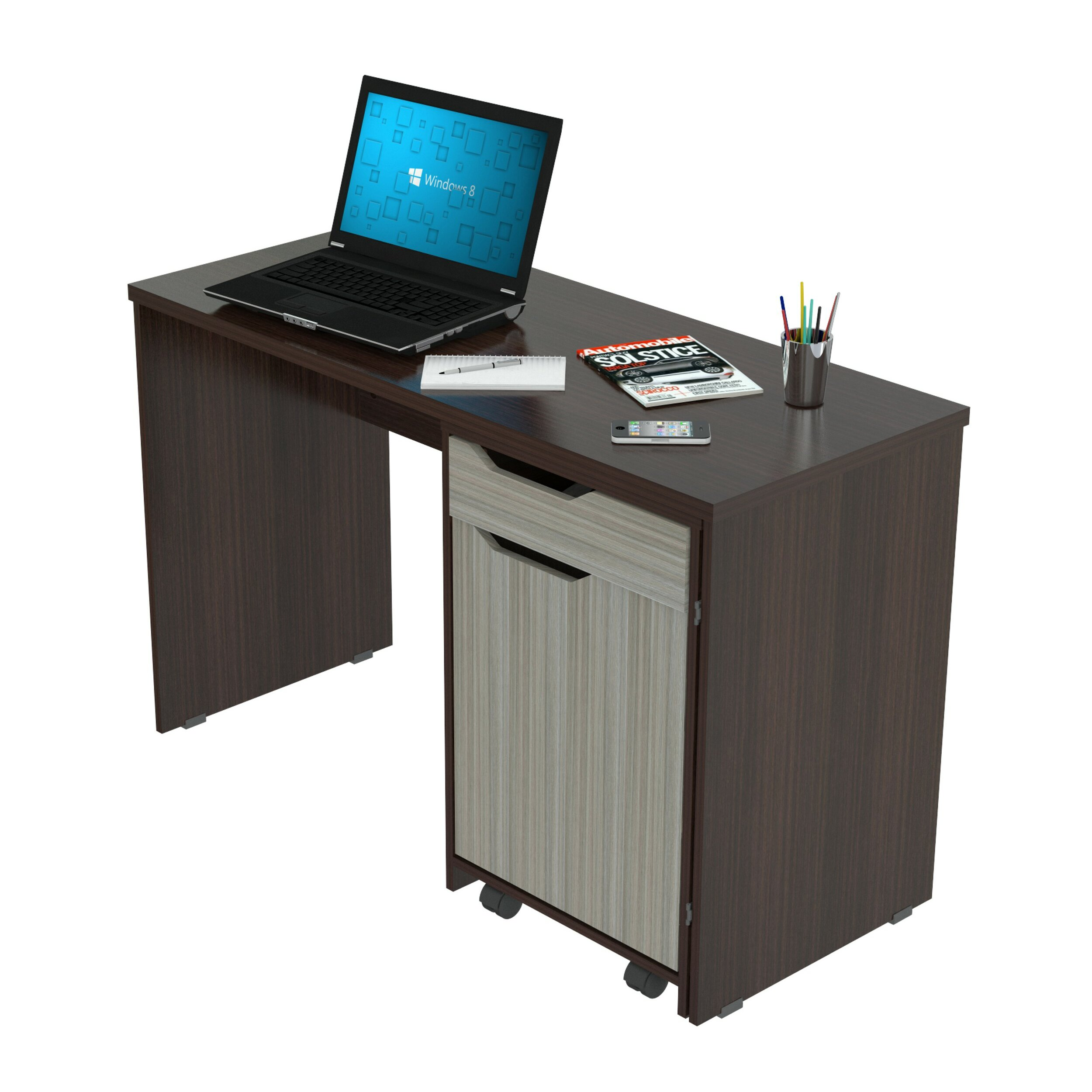 Inval Computer Desk Storage Desk & Reviews   Wayfair.ca
