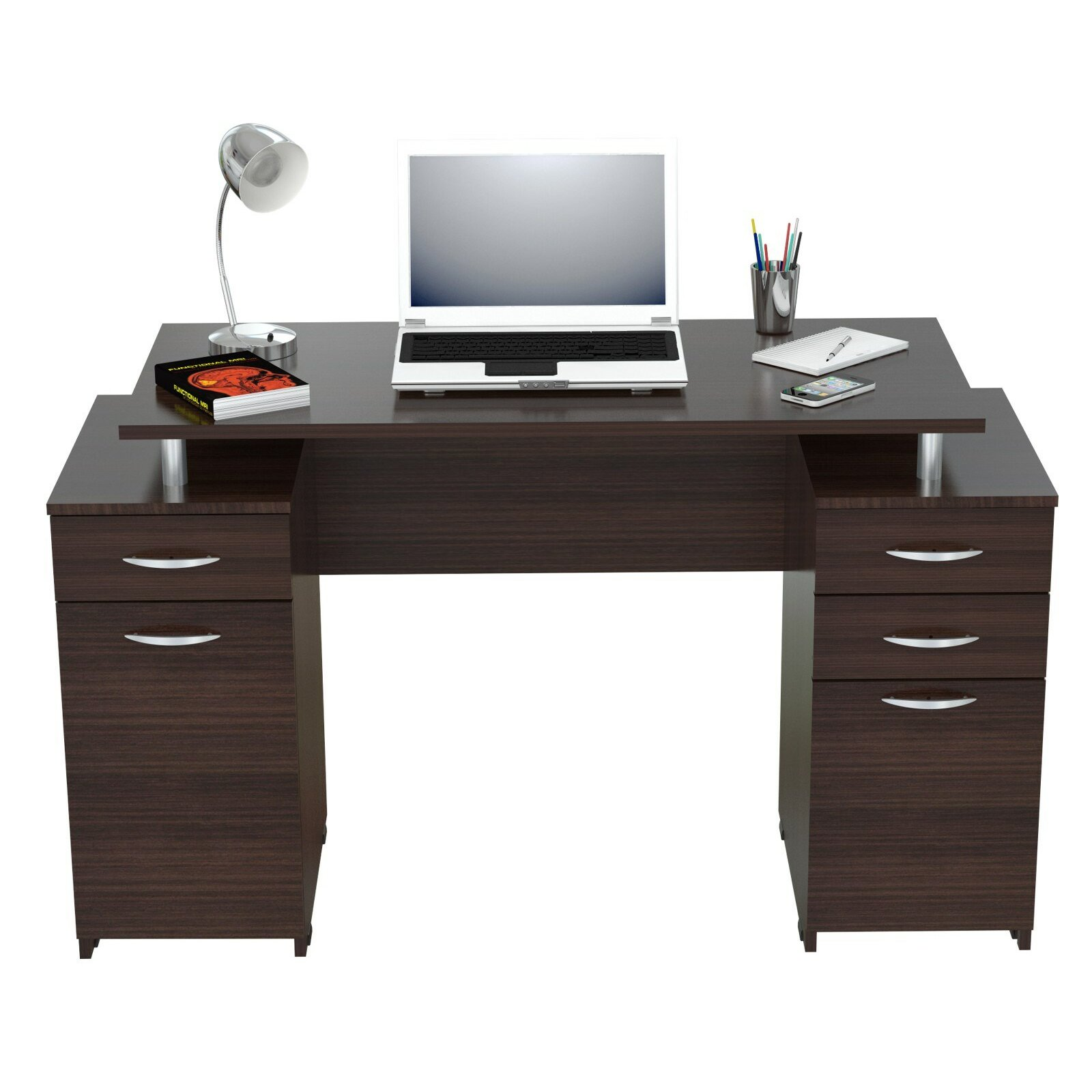 Inval double pedestal computer desk reviews wayfair for Computer desk