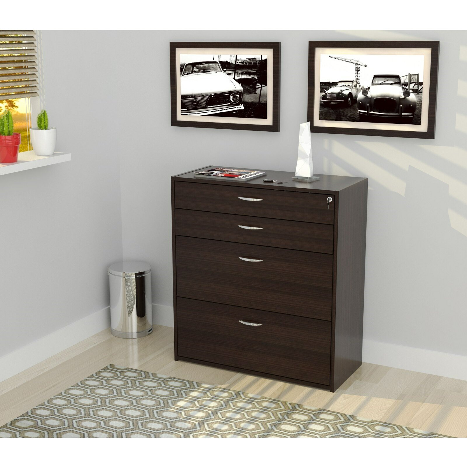 Inval 4 Drawer Storage & Filing Cabinet & Reviews
