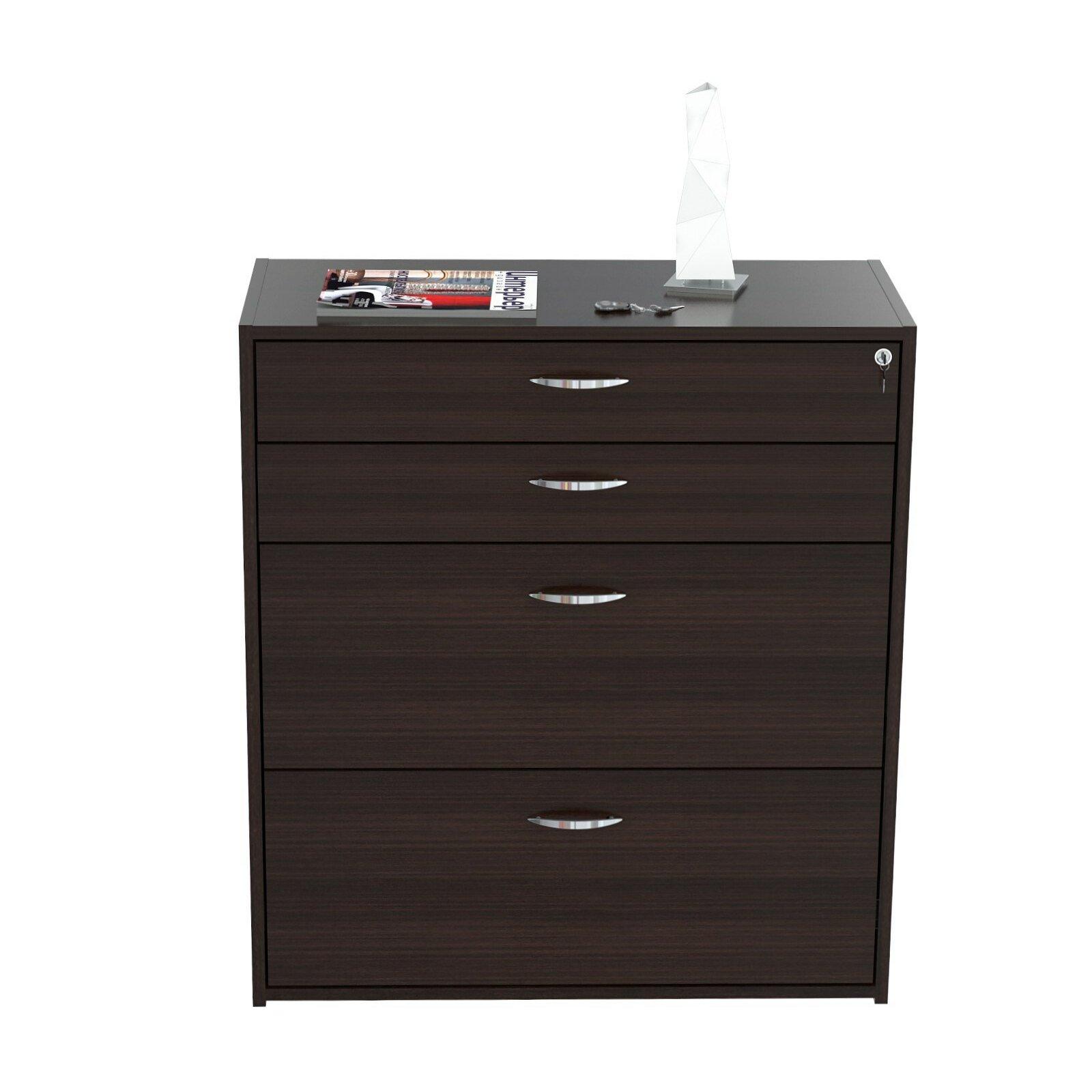 Inval 4 Drawer Storage Filing Cabinet Reviews Wayfair
