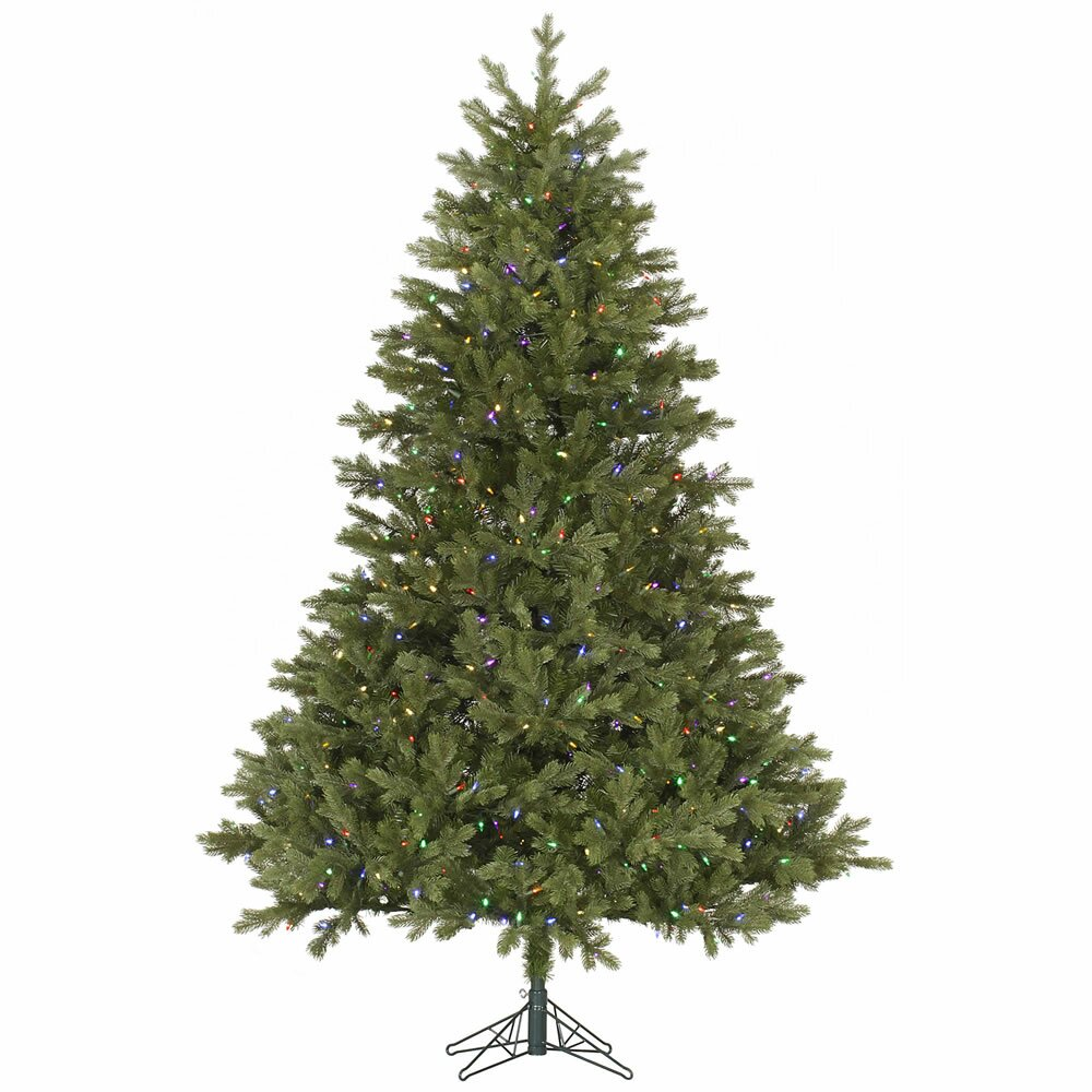 Vickerman Balsam 7.5' Green Fir Artificial Christmas Tree ...