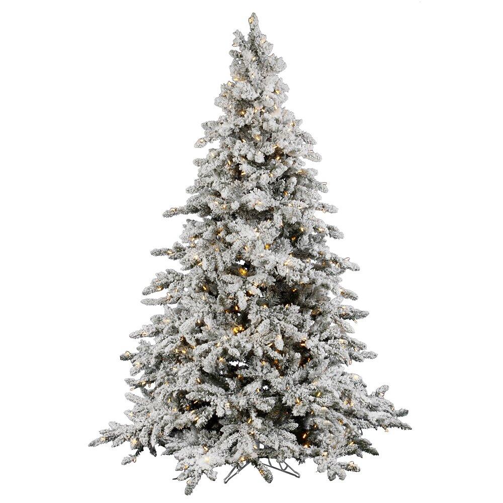 Vickerman Flocked Utica 9' Green Fir Artificial Christmas ...