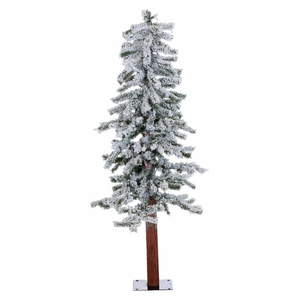 Vickerman 4' Flocked Alpine White Artificial Christmas ...