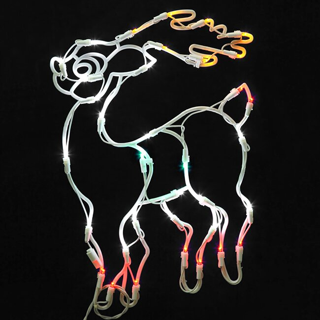 Vickerman lighted reindeer christmas window silhouette for 30 lighted nativity christmas window silhouette decoration