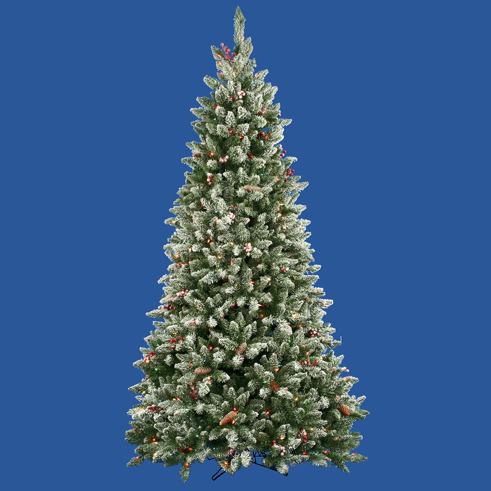 Vickerman 7 5 39 frosted edina fir cones and berries for Fir cone christmas tree decorations