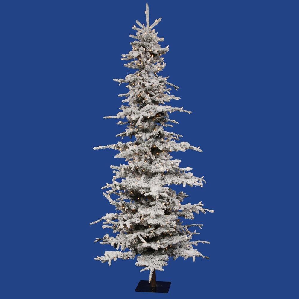 Vickerman 7.5' Flocked Georgian Fir Artificial Christmas ...